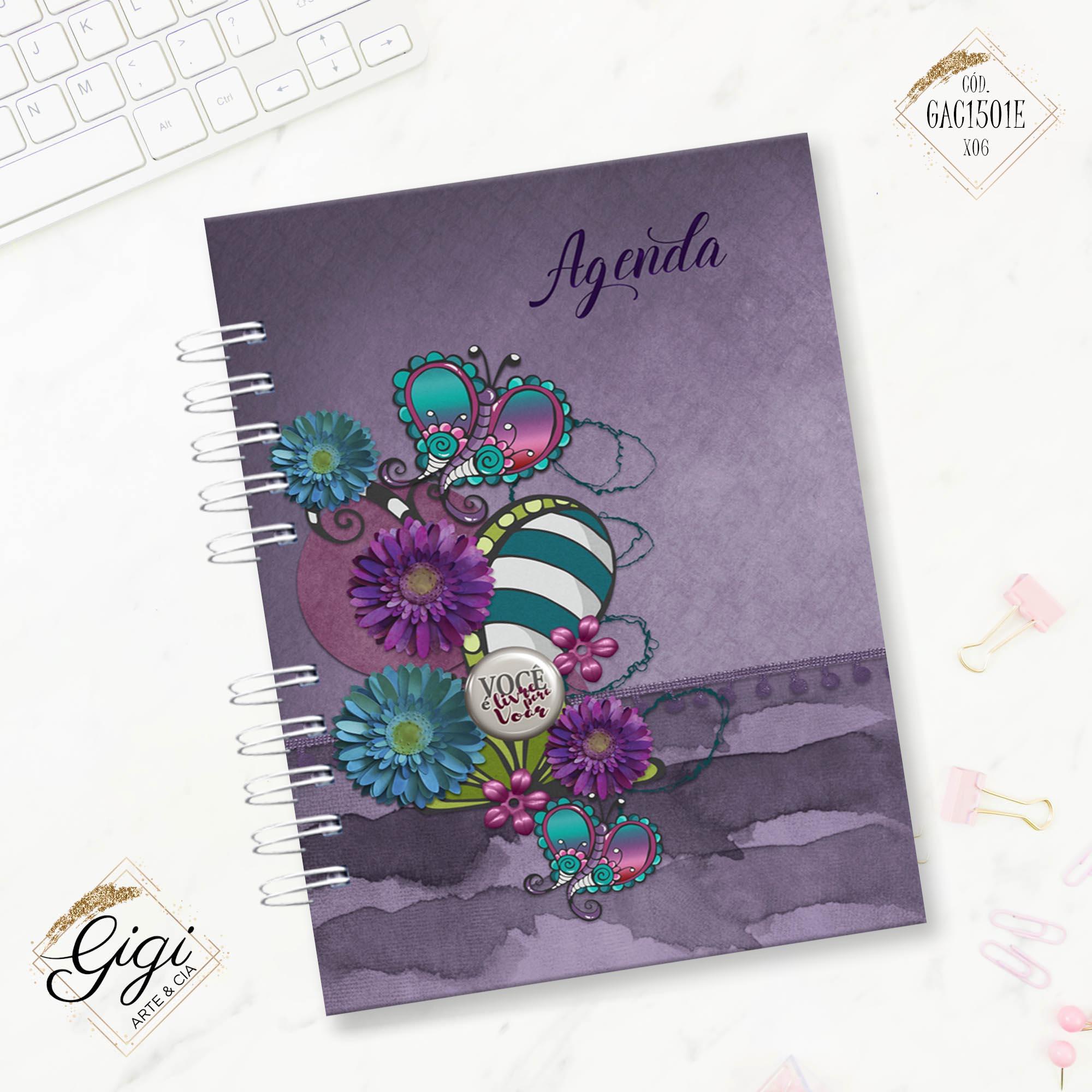 Agenda Permanente A5 - Liberte-se  - Gigi Arte e Cia