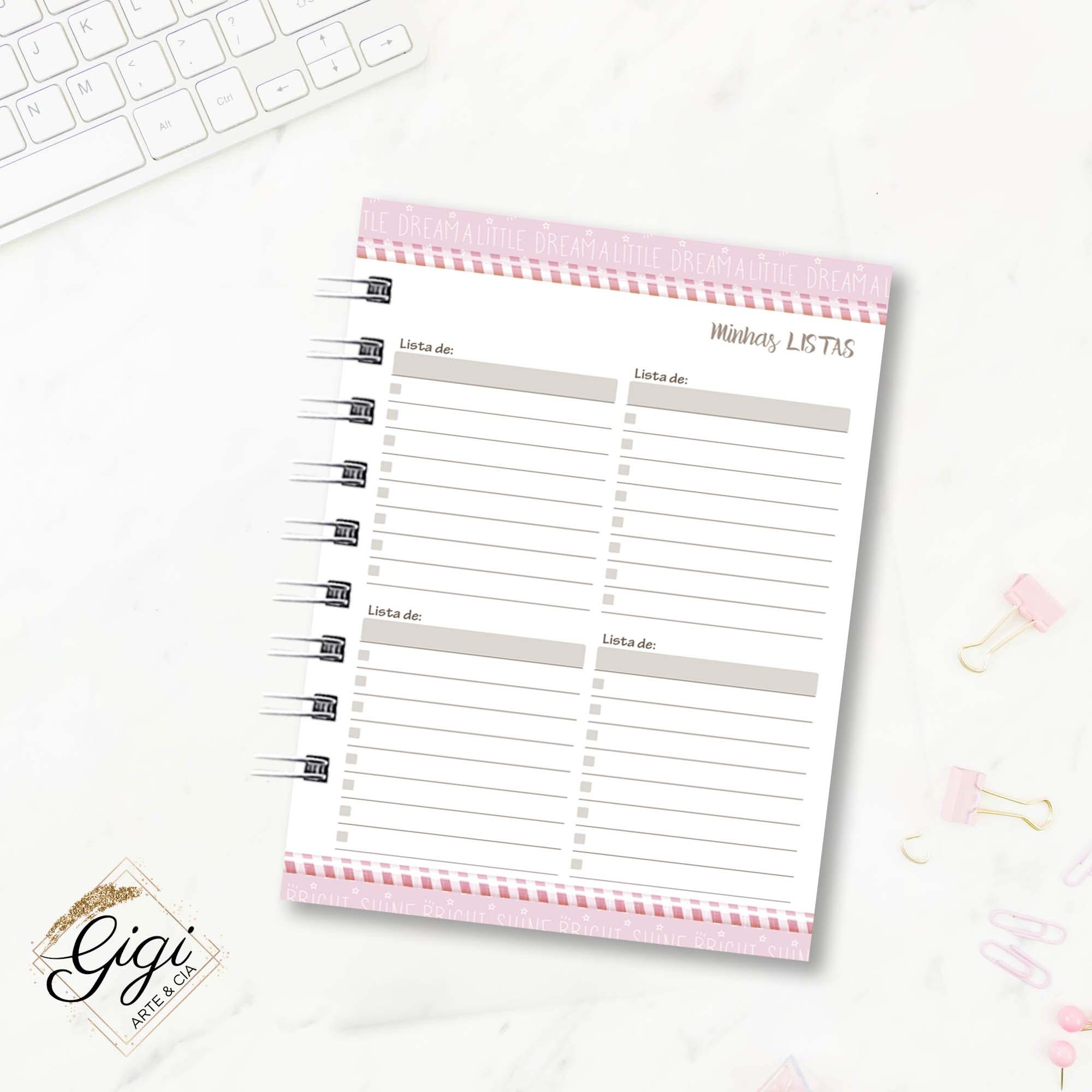 Agenda Permanente A6 - Candy Girls  - Gigi Arte e Cia