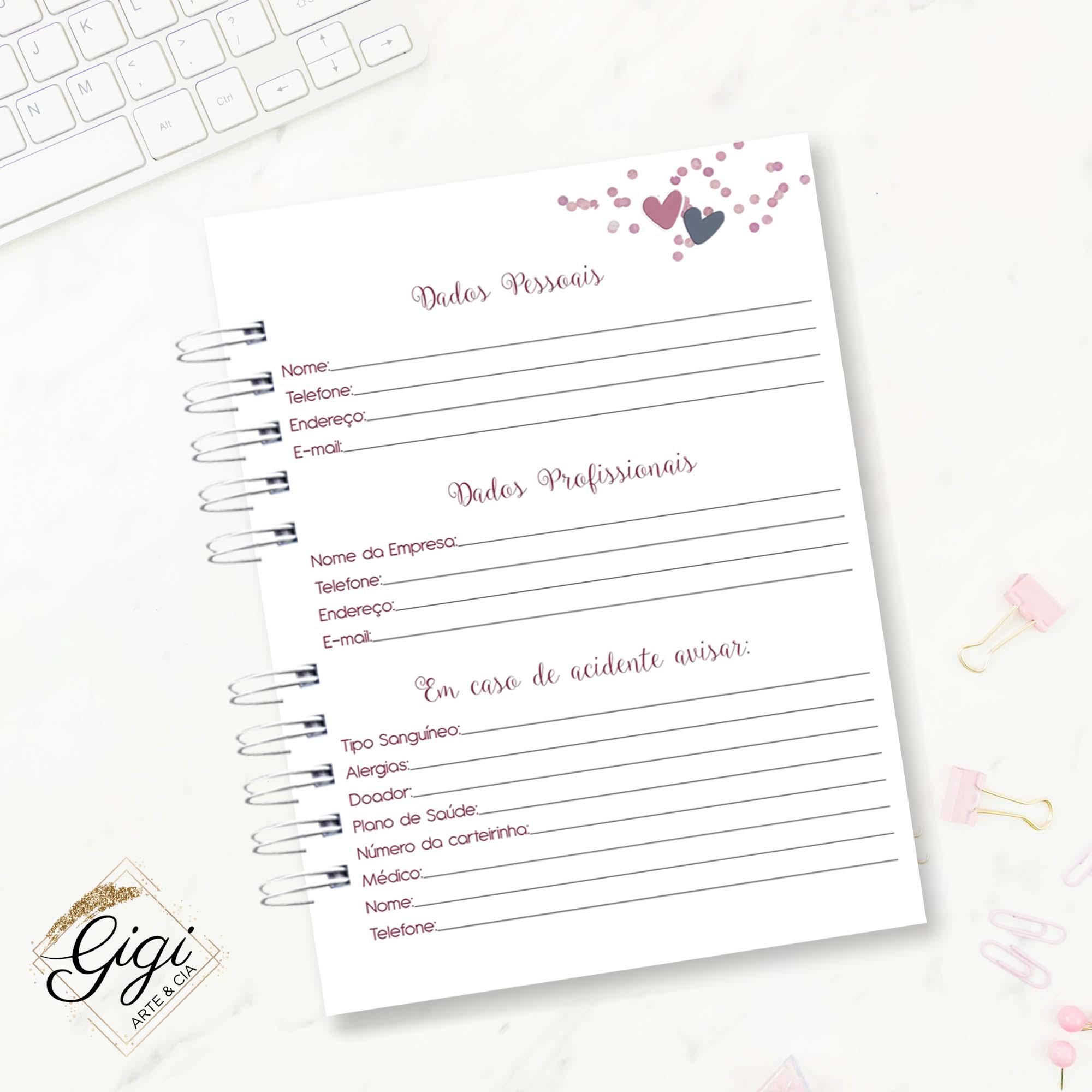 Agenda Permanente - Amar é...  - Gigi Arte e Cia