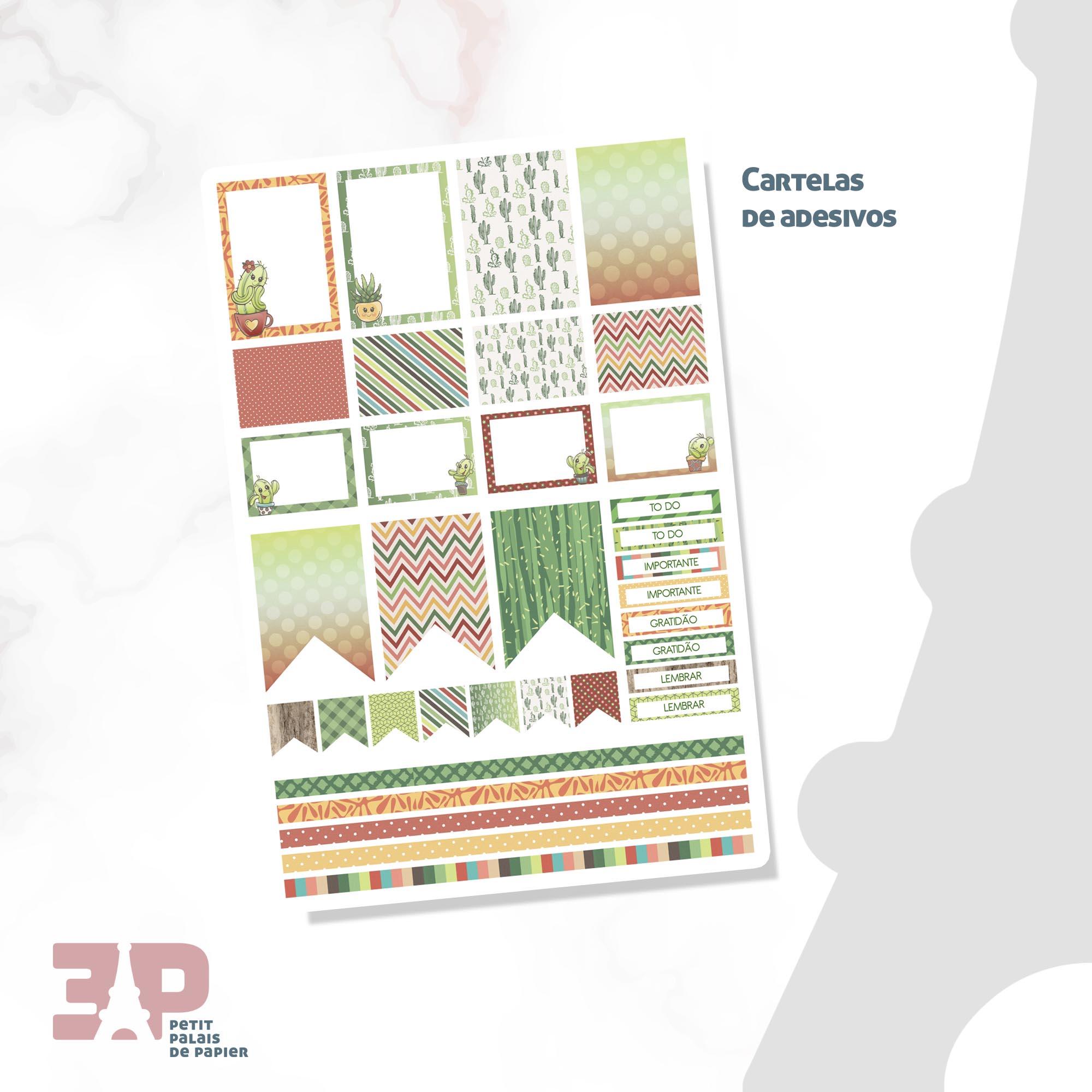 Agenda Permanente - Cactos  - Petit Palais de Papier
