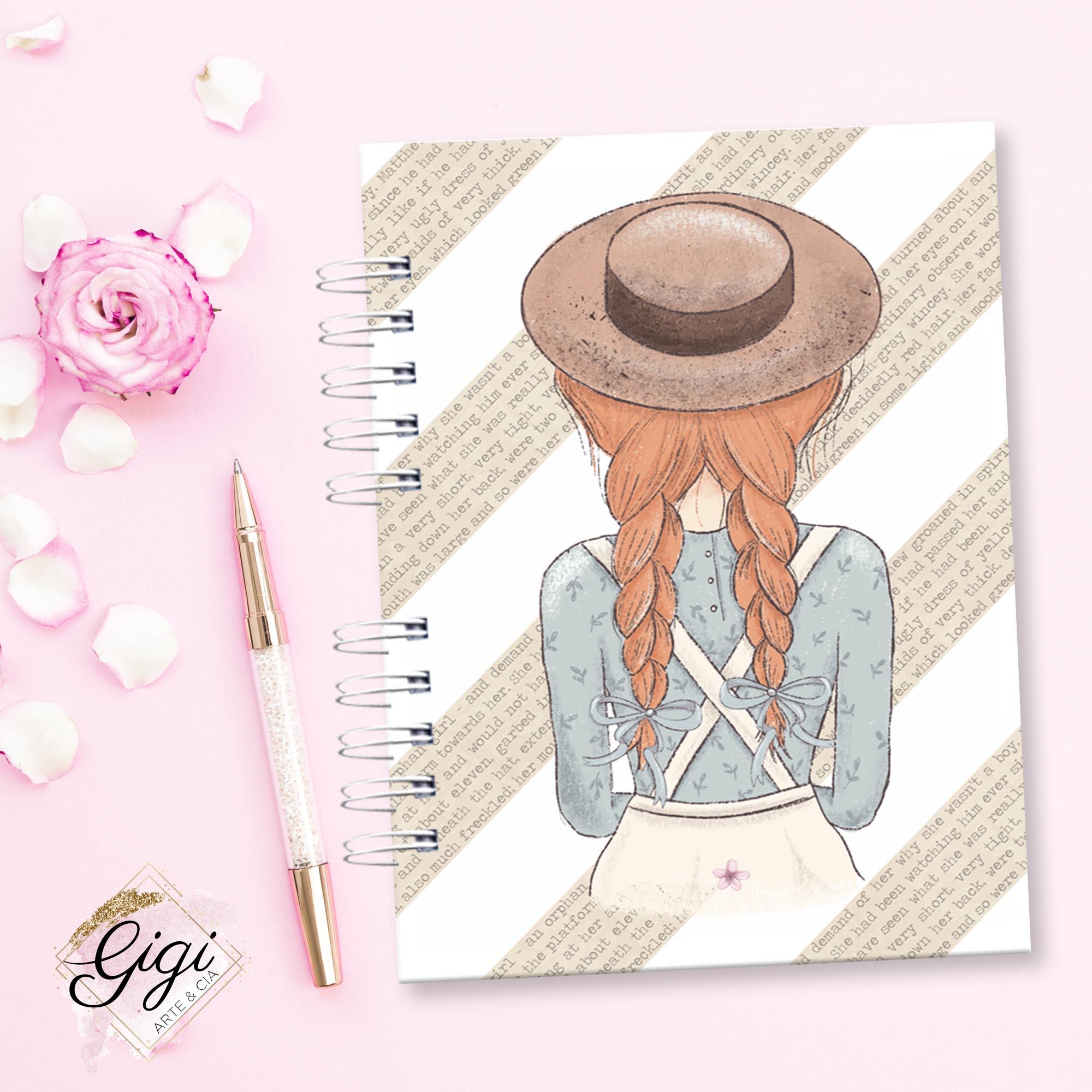 Anne White - Modelo 4 - Agendas | Bloquinhos | Cadernos  - Gigi Arte e Cia