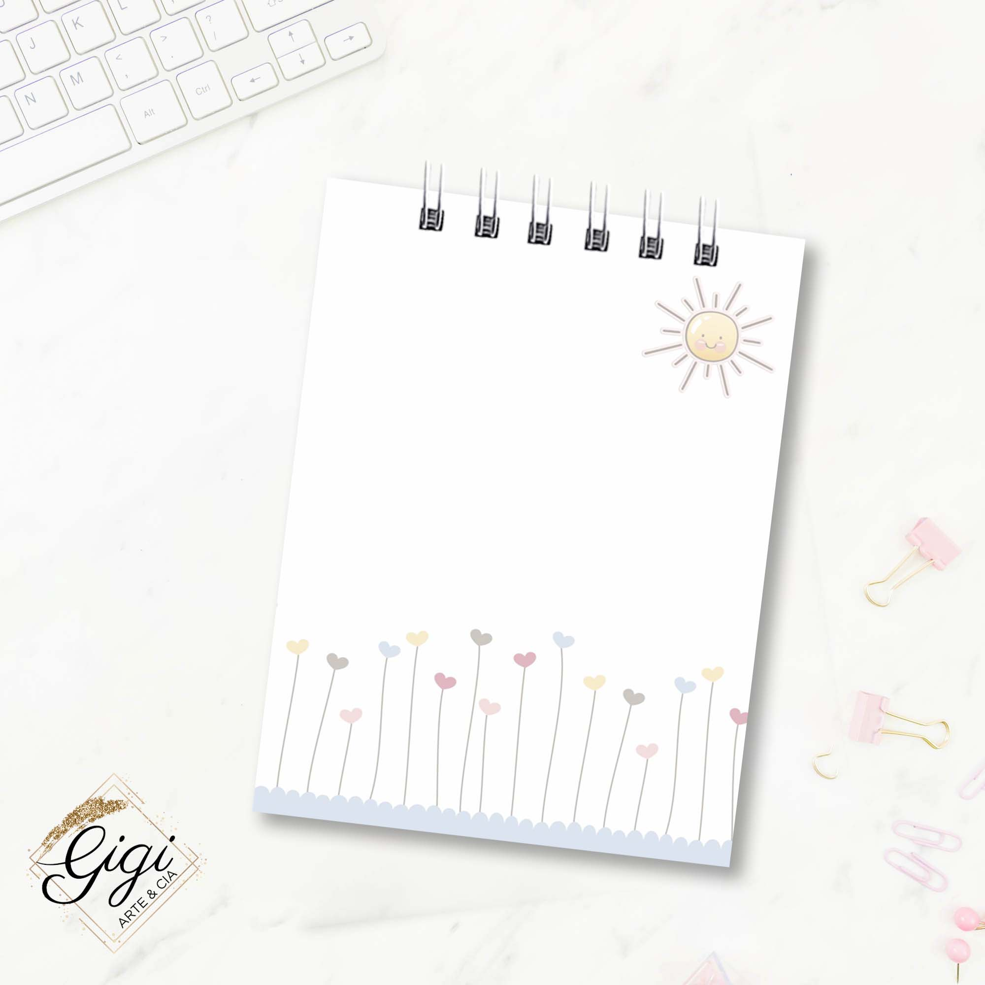 Bloco de Anotações - Candy Girls  - Gigi Arte e Cia