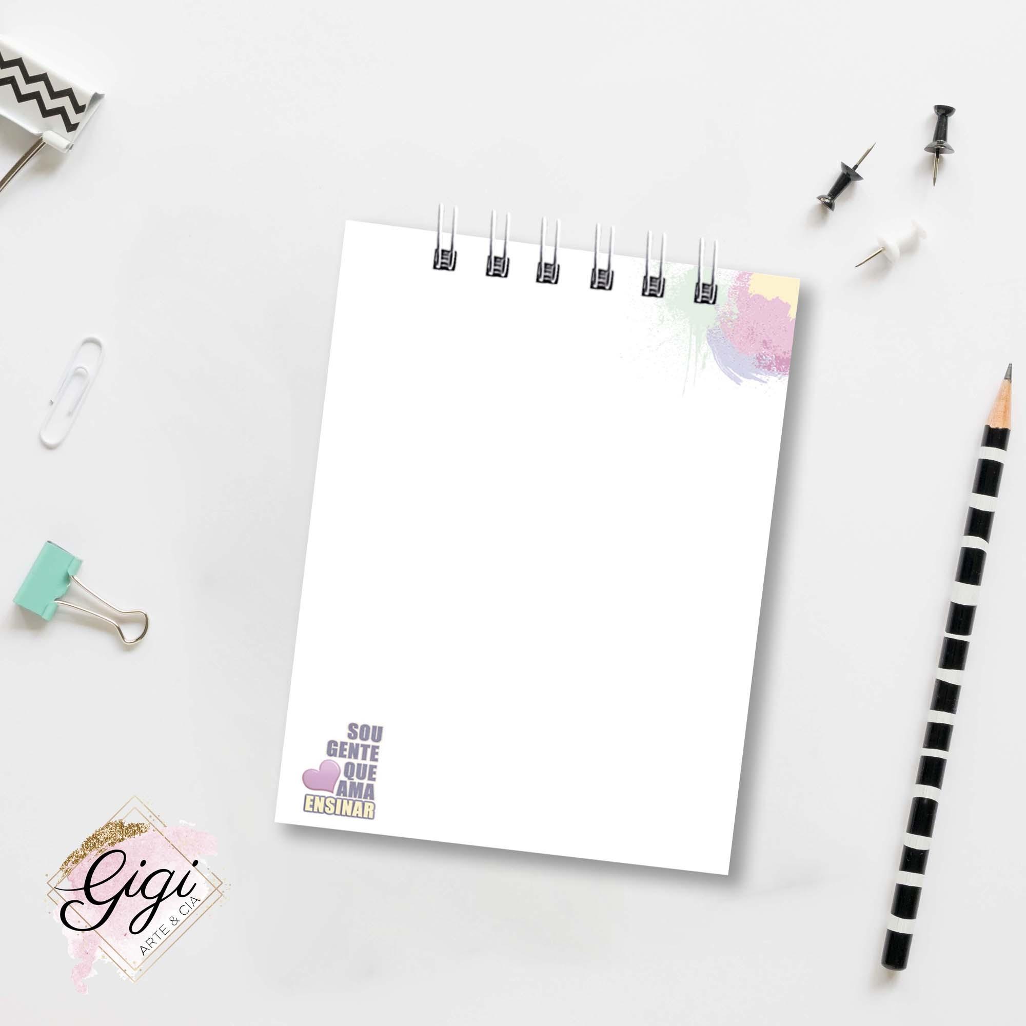 Bloco de Anotações - Professores  - Gigi Arte e Cia