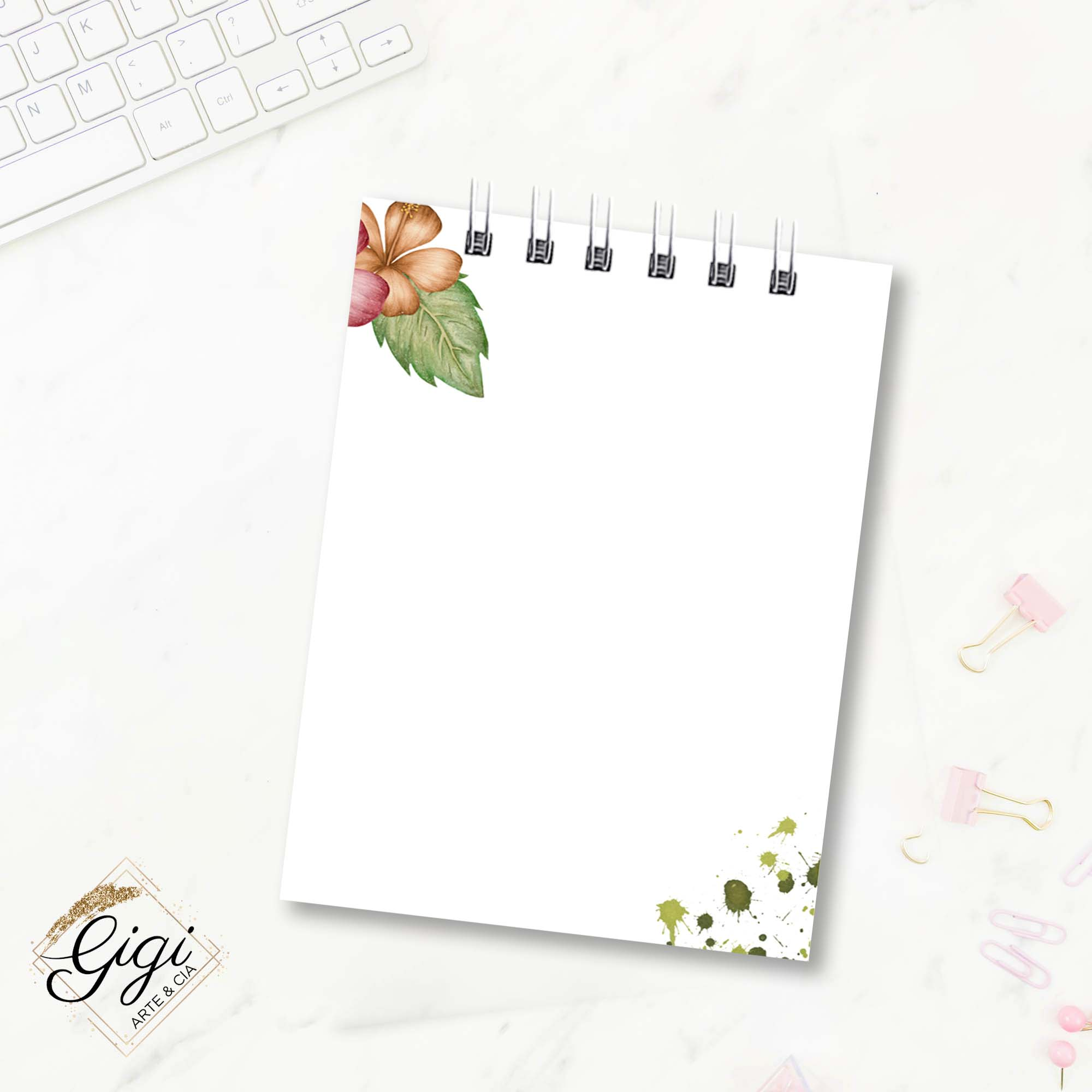 Bloco de Anotações - Tropical  - Gigi Arte e Cia
