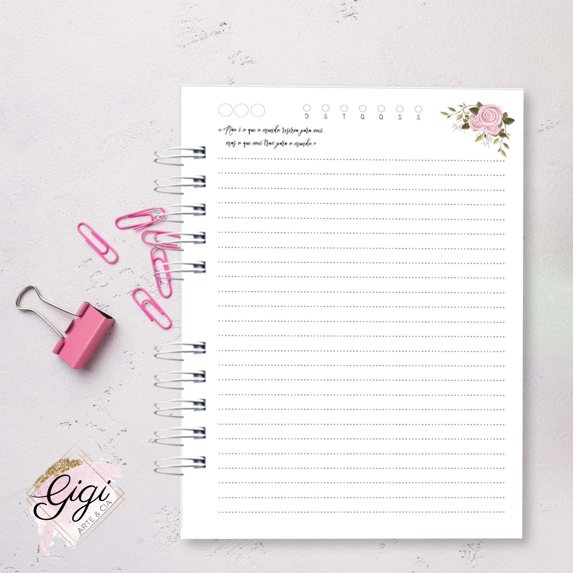 Caderno A5  - Gigi Arte e Cia