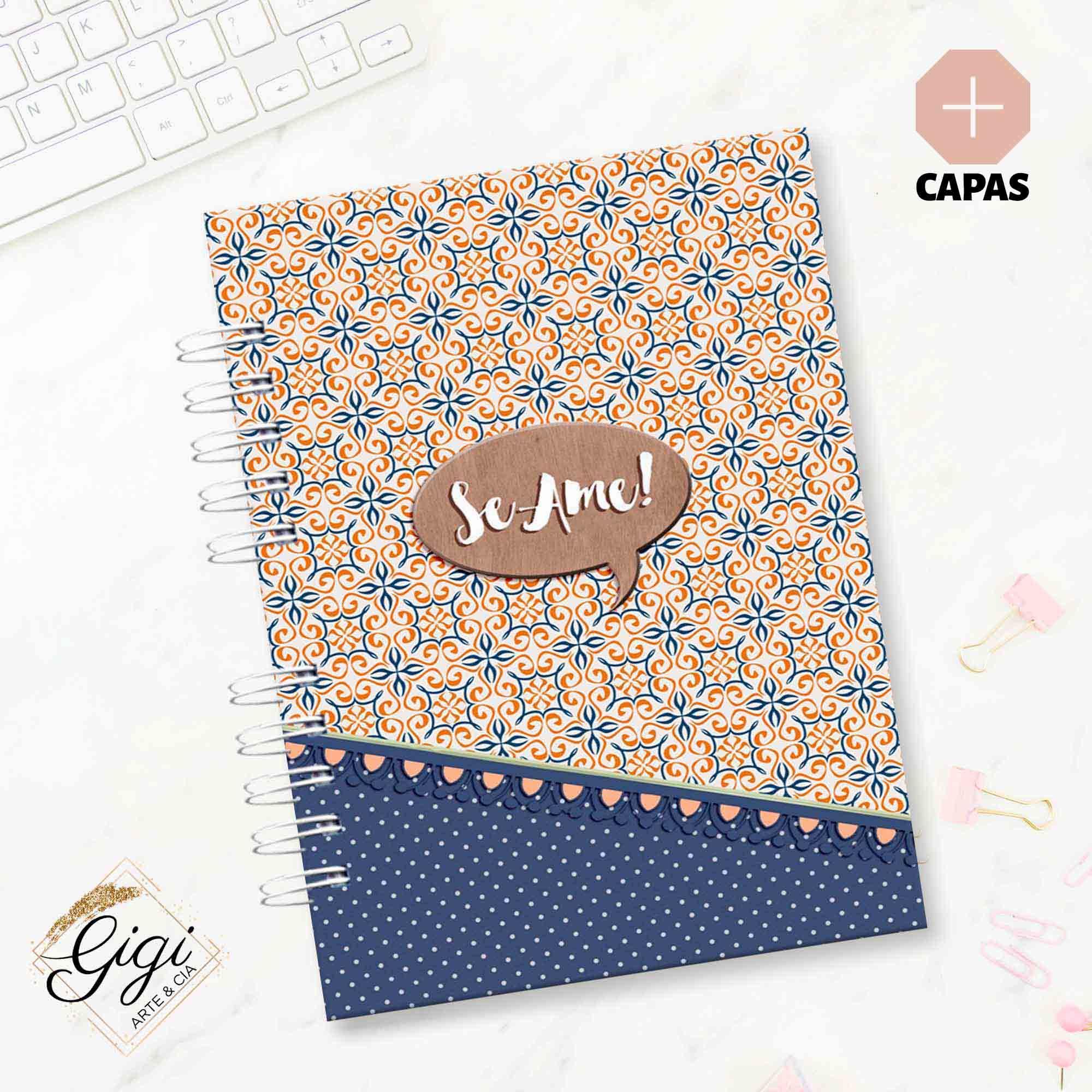 Caderno A5 - Ame-se  - Gigi Arte e Cia