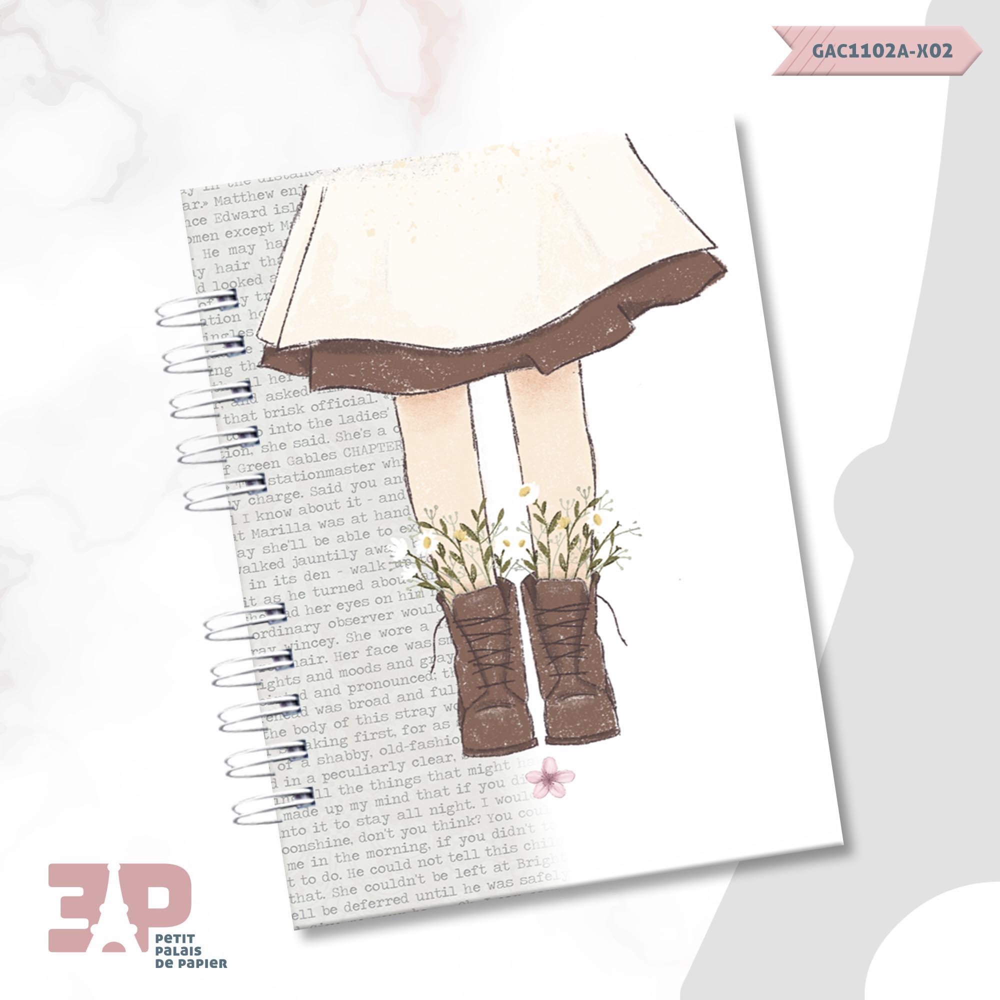 Caderno A5 - Anne White  - Petit Palais de Papier