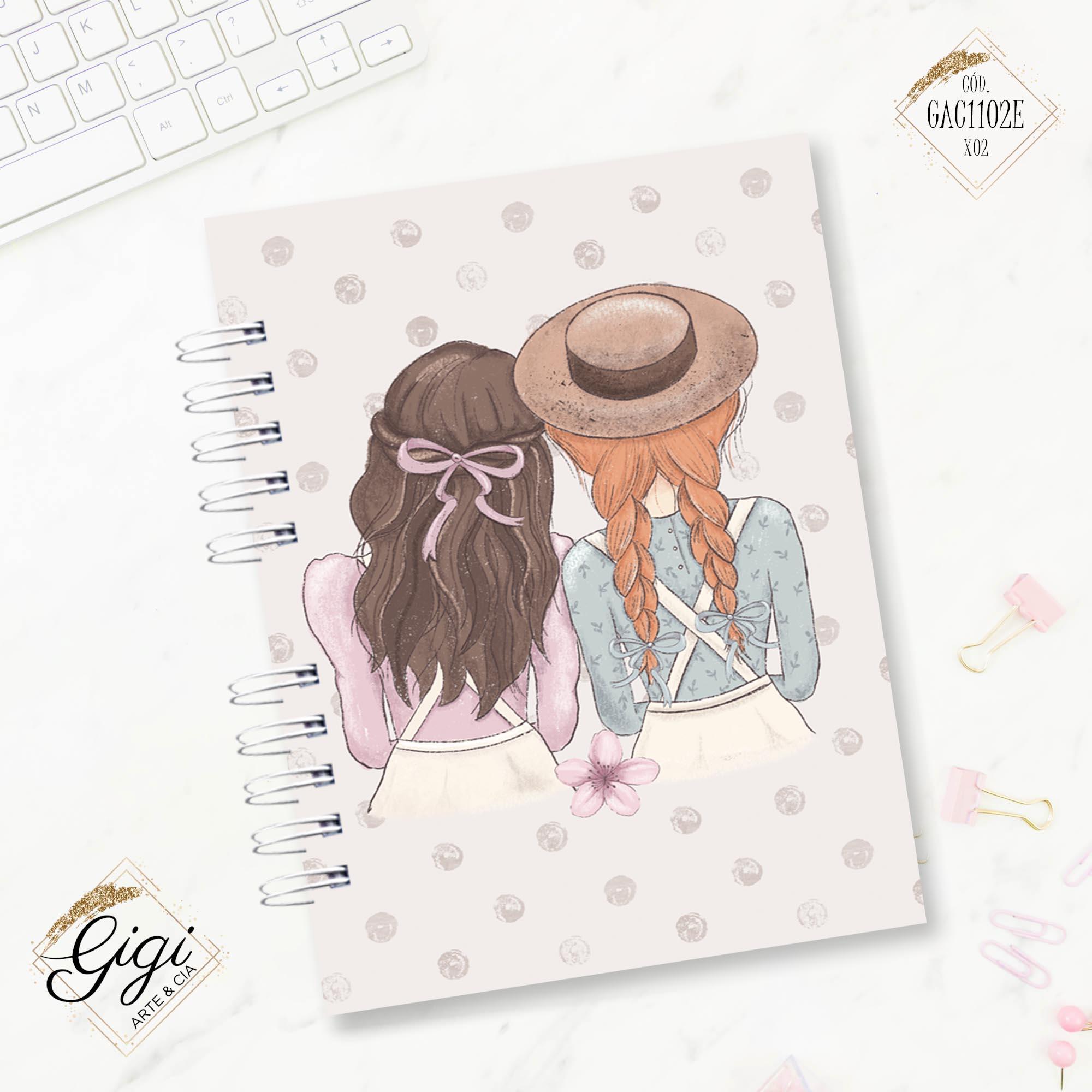 Caderno A5 - Anne White  - Gigi Arte e Cia