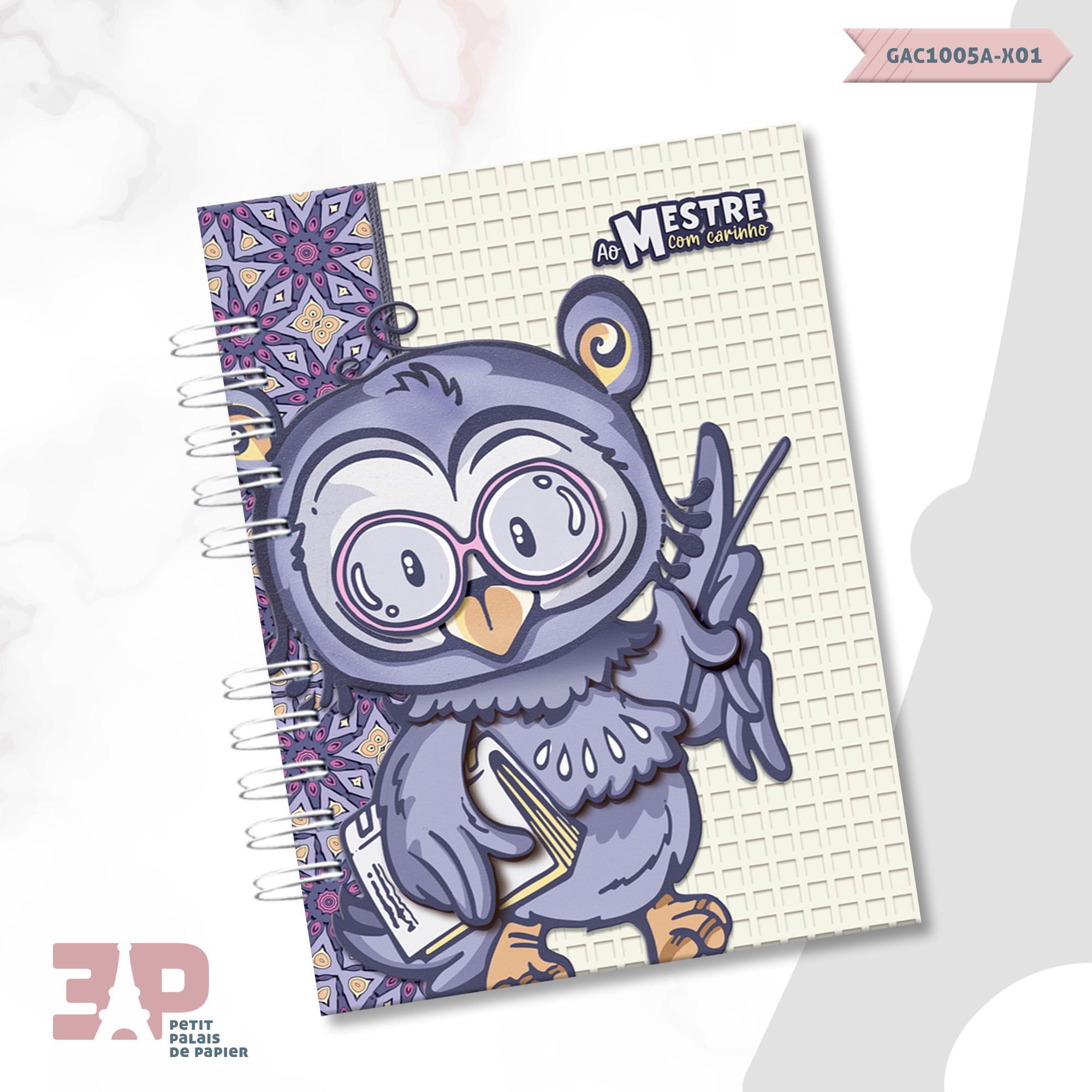 Caderno A5 - Ao Mestre com Carinho  - Petit Palais de Papier