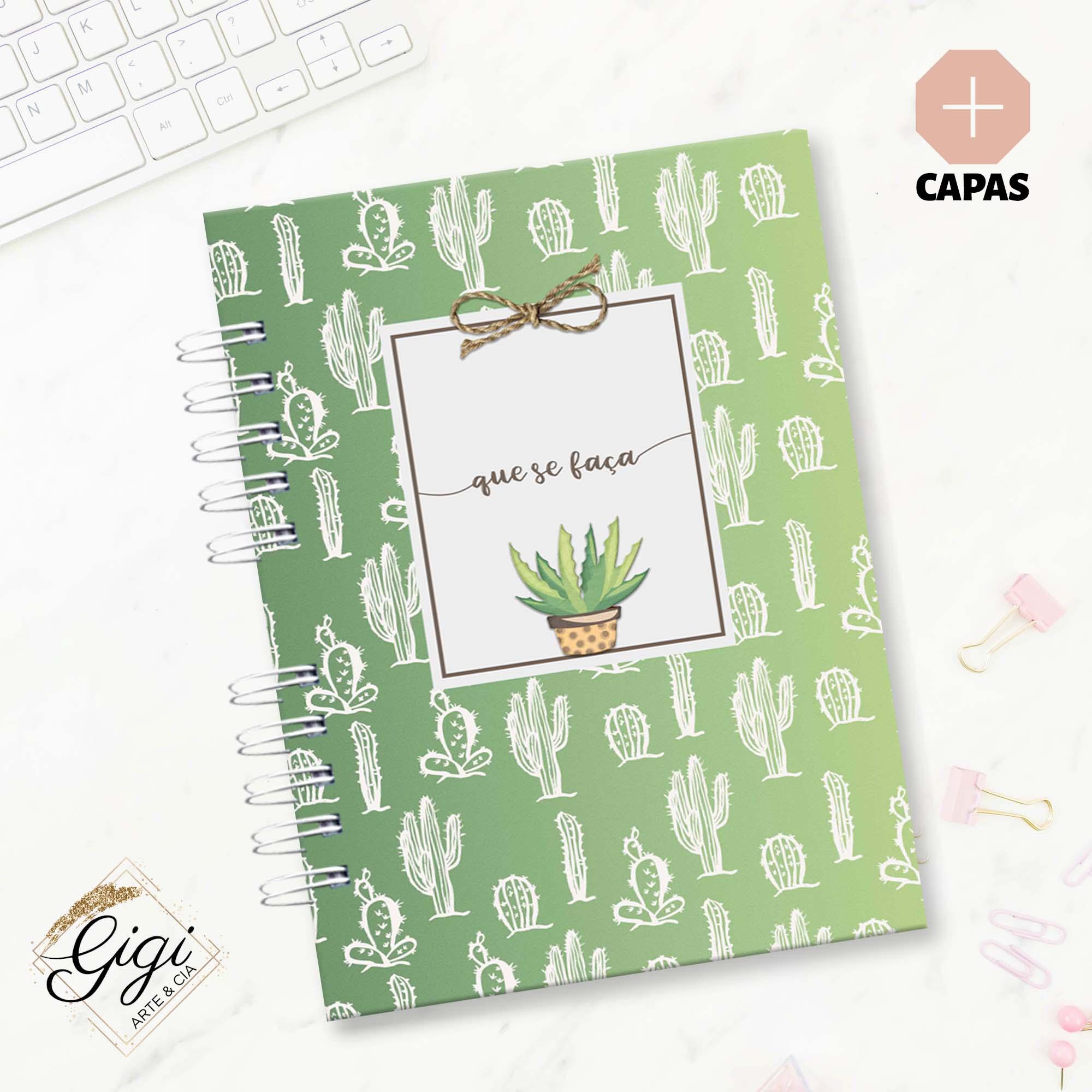 Caderno A5 - Cactos  - Gigi Arte e Cia