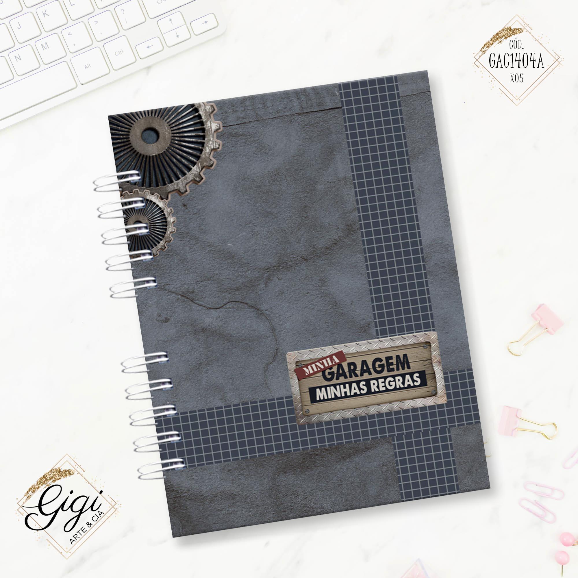 Caderno A5 - For Men  - Gigi Arte e Cia