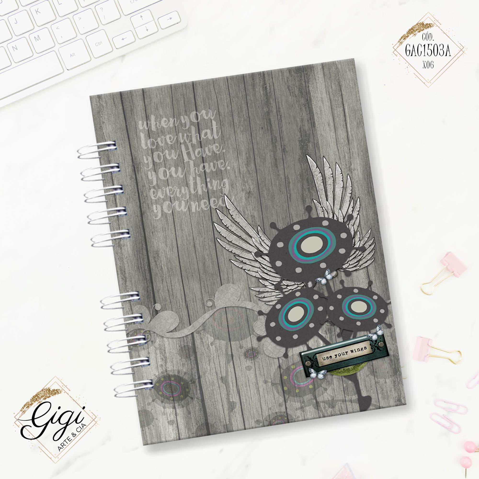 Caderno A5 - Liberte-se  - Gigi Arte e Cia