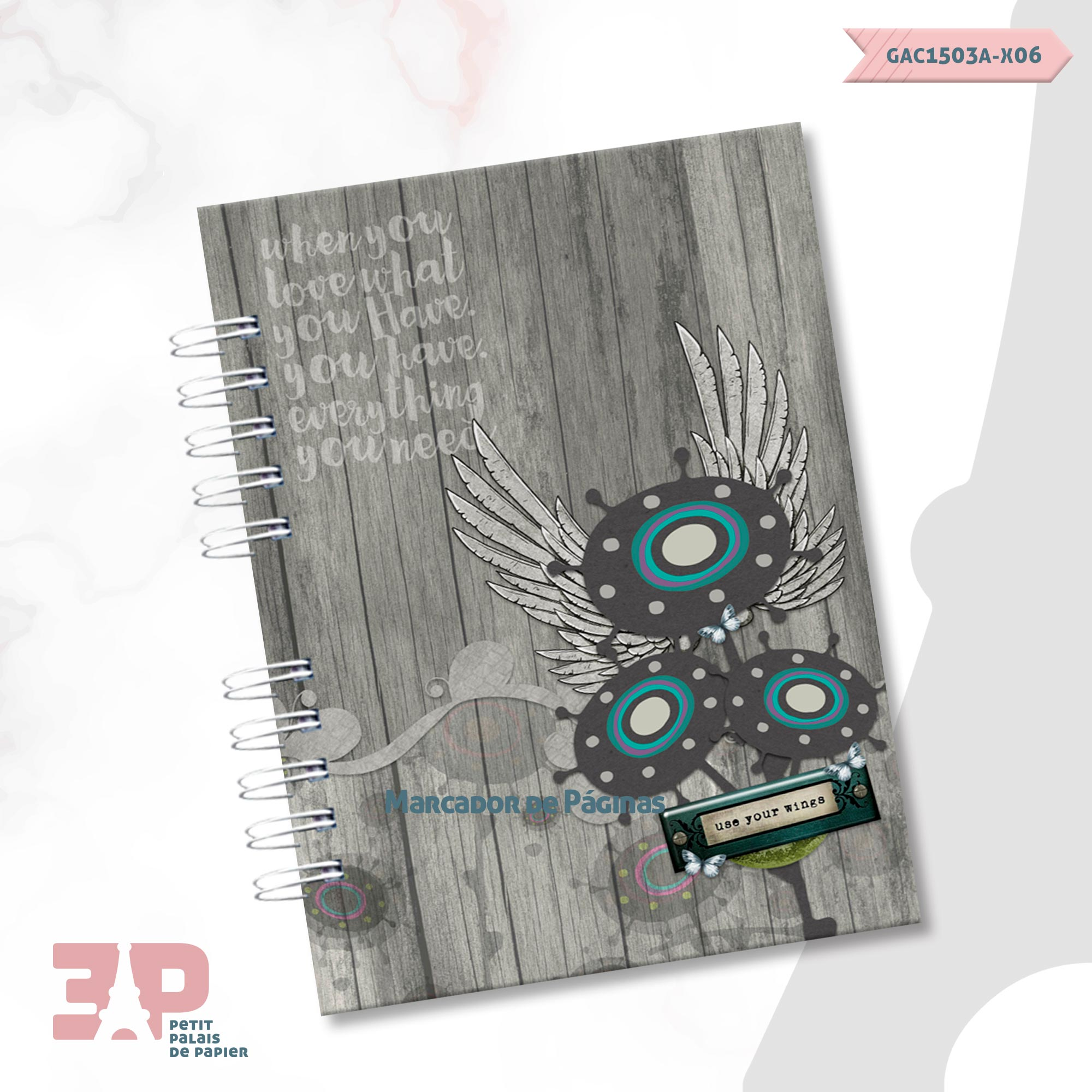 Caderno A5 - Liberte-se  - Petit Palais de Papier