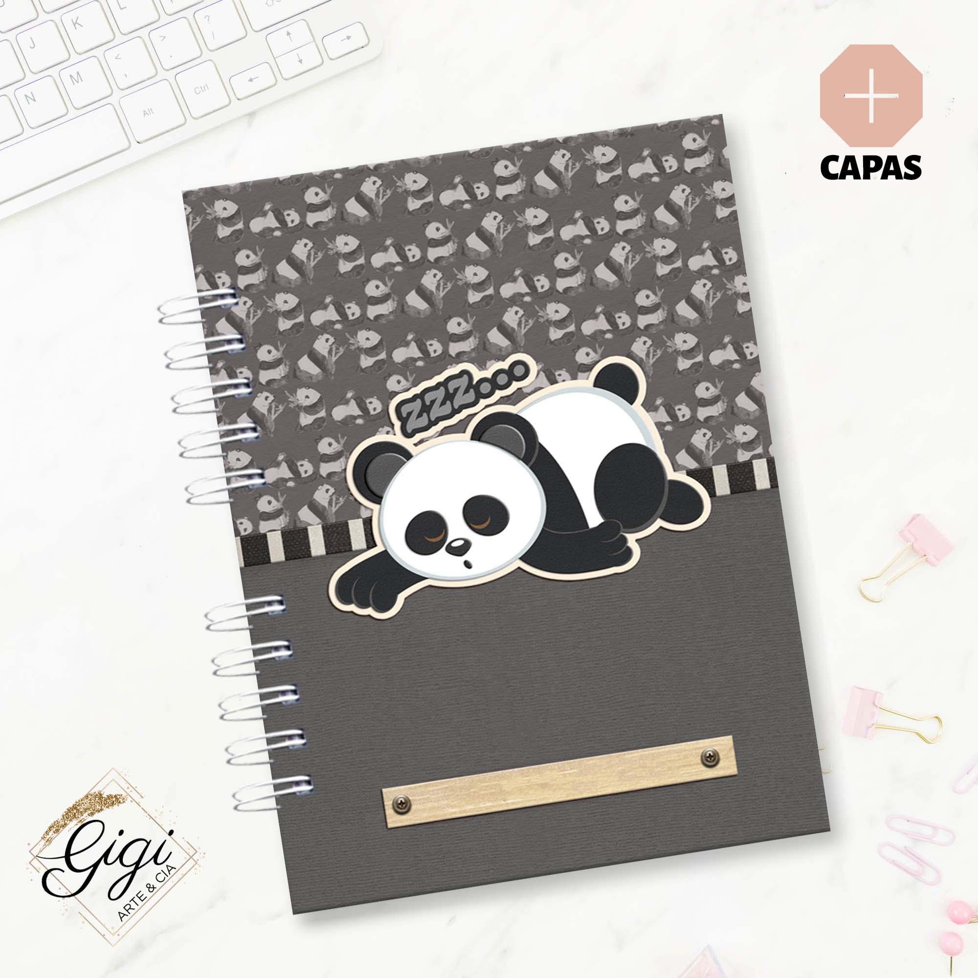 Caderno A5 - Panda  - Petit Palais de Papier