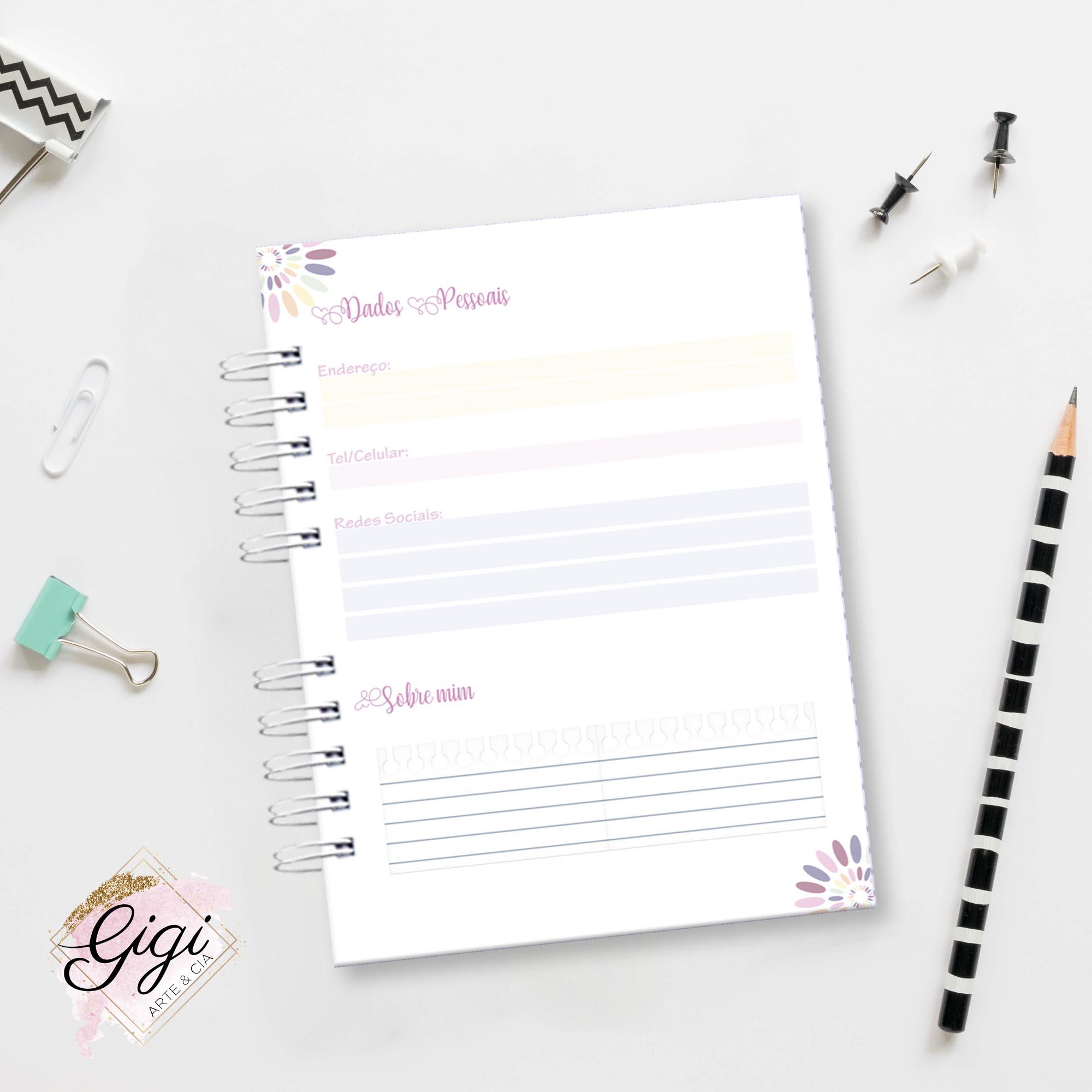 Caderno A5 - Professores  - Gigi Arte e Cia