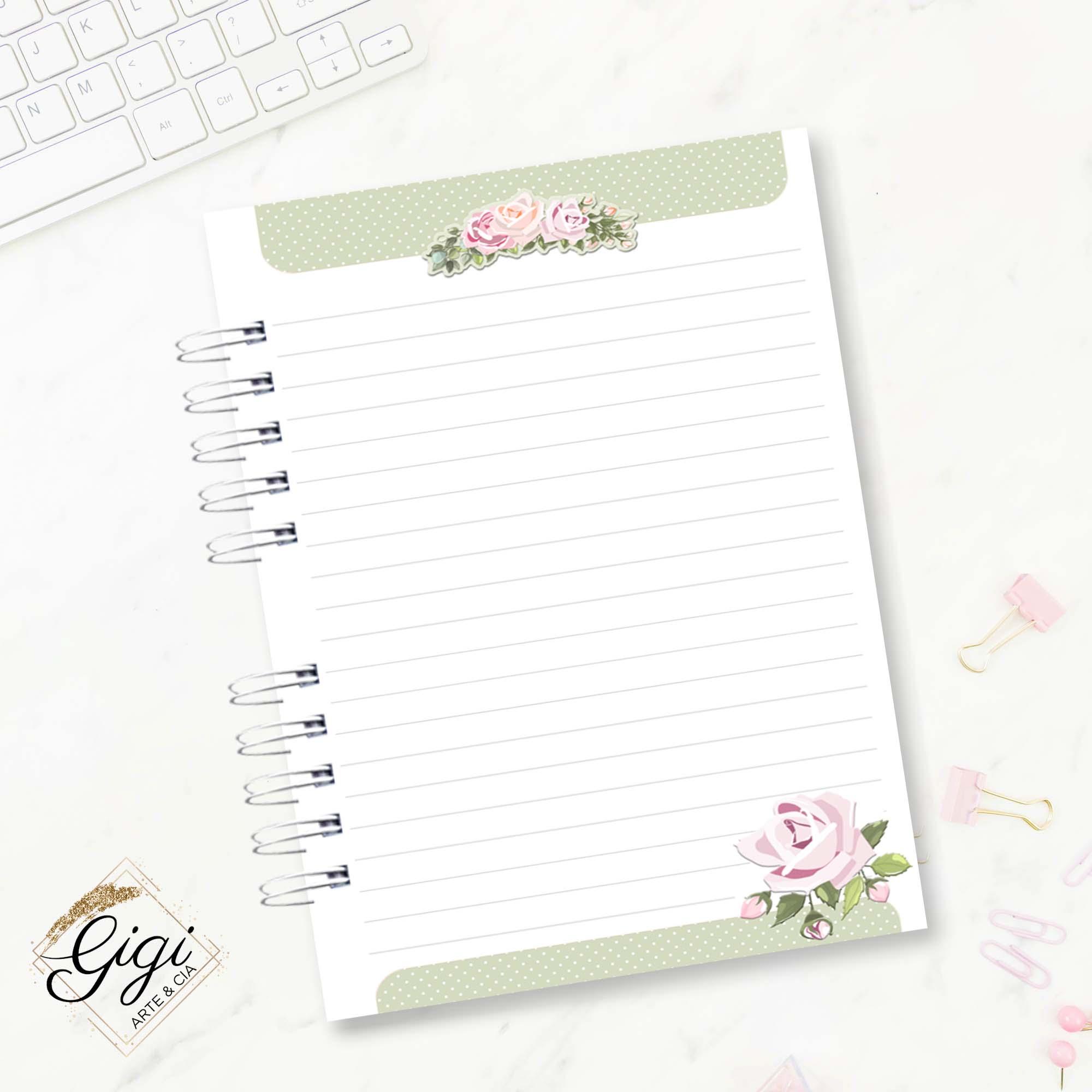 Caderno A5 - Romântica  - Gigi Arte e Cia