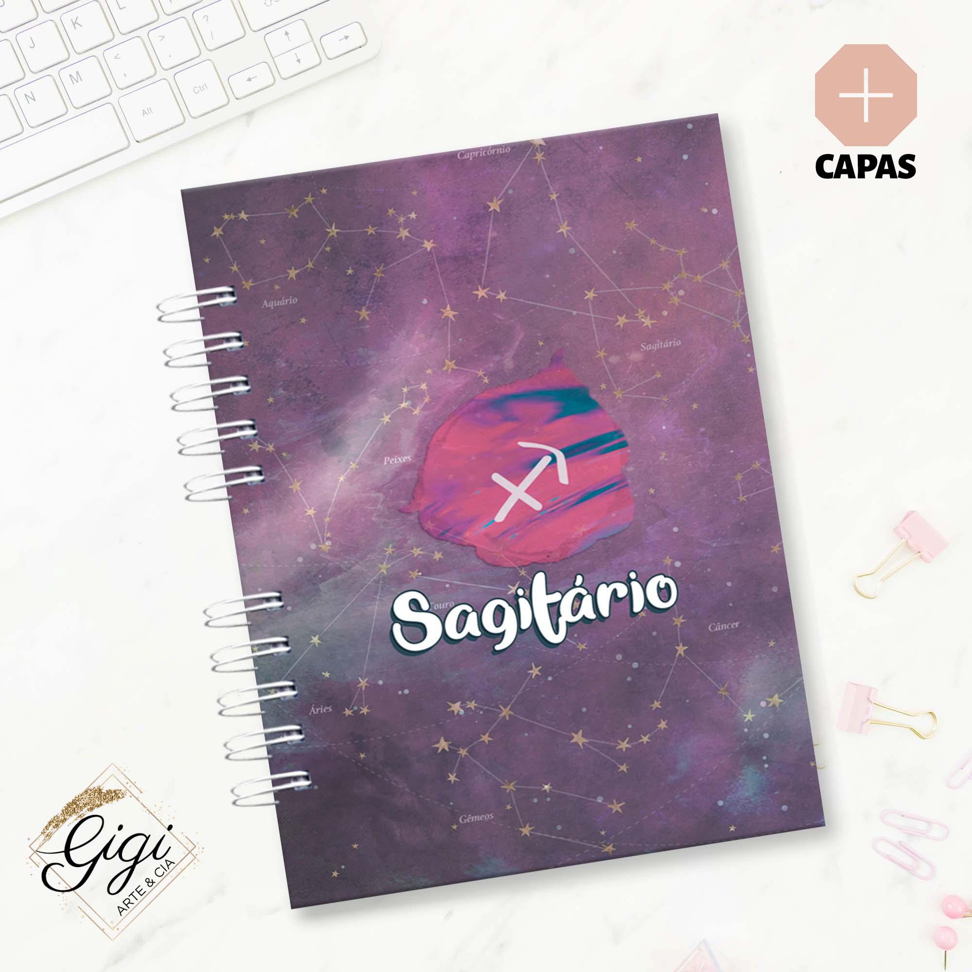 Caderno A5 - Signos I  - Gigi Arte e Cia