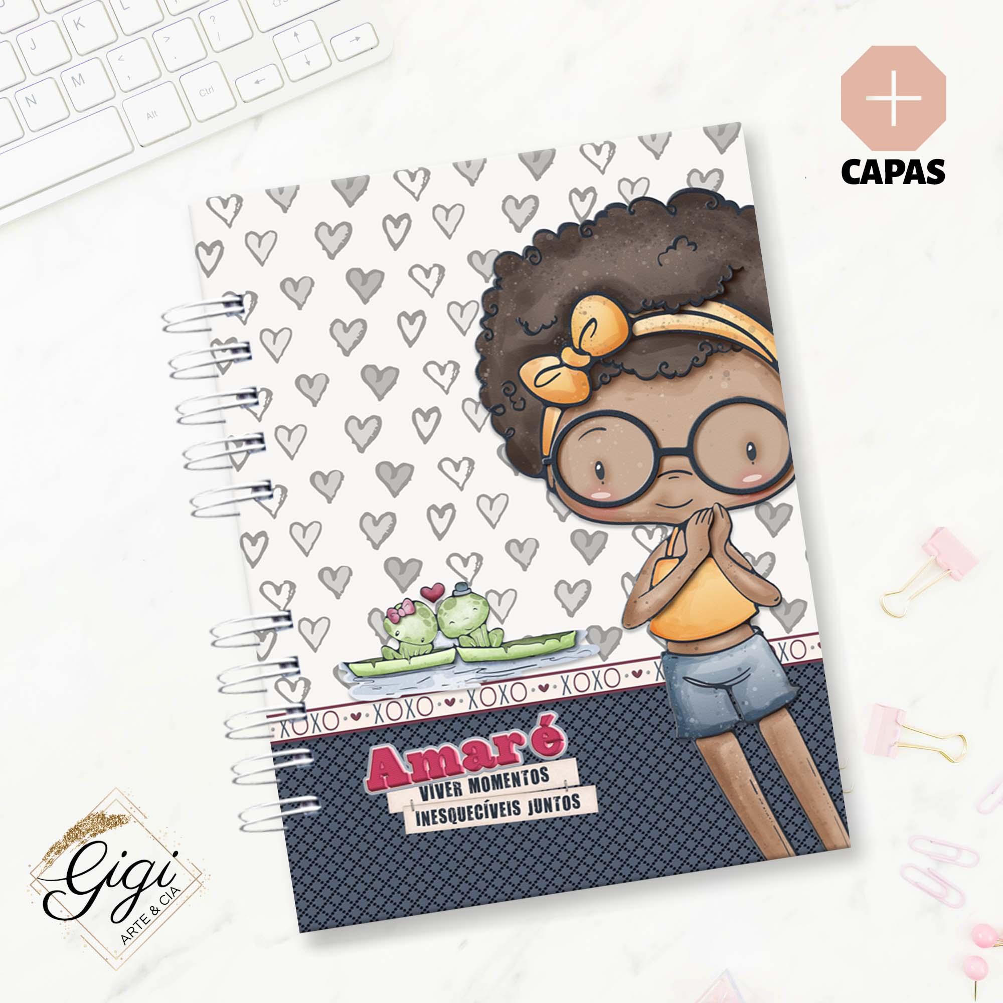 Caderno A5 - Amar é...  - Gigi Arte e Cia