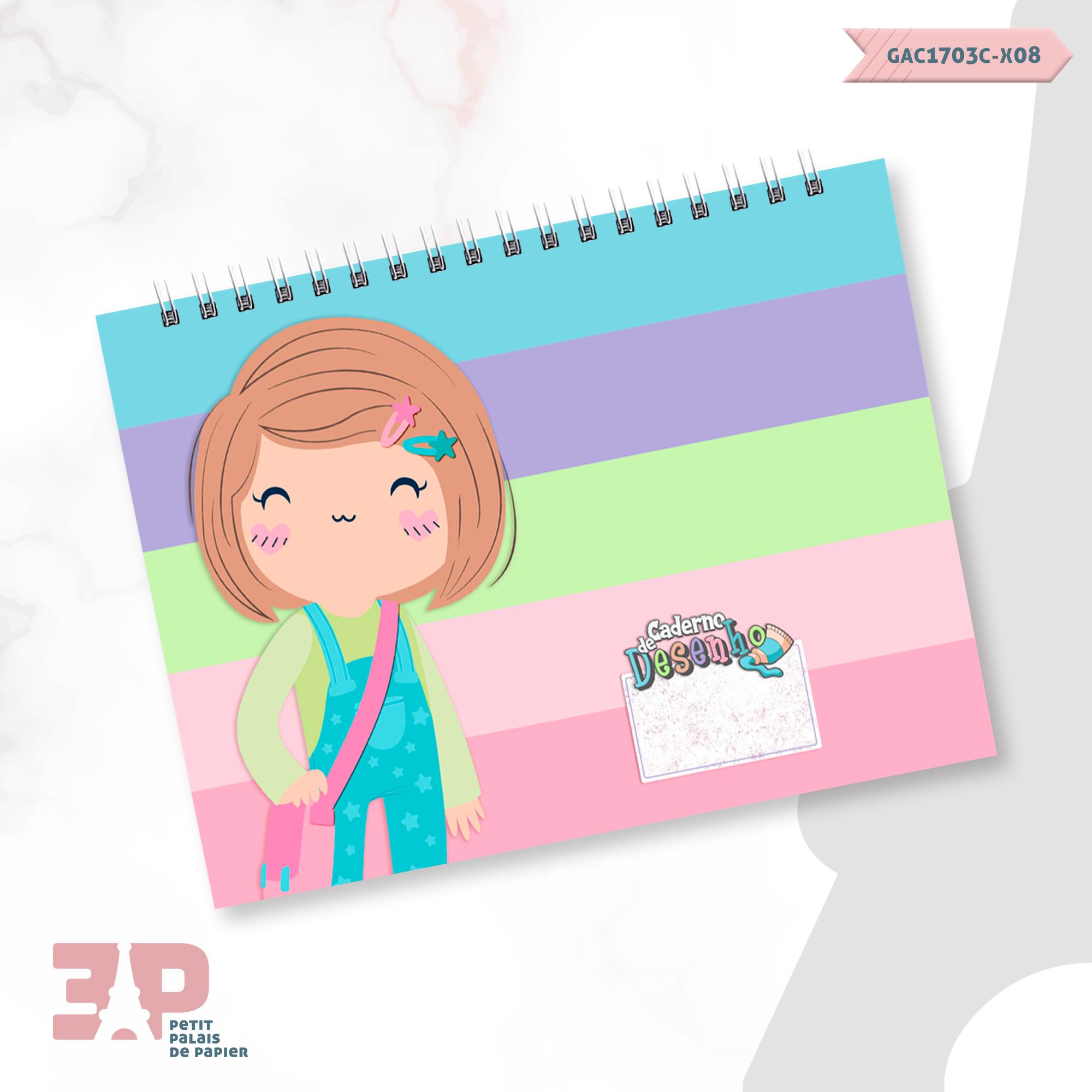 Caderno de Desenhos A4 - Meninas - Volta às Aulas  - Petit Palais de Papier