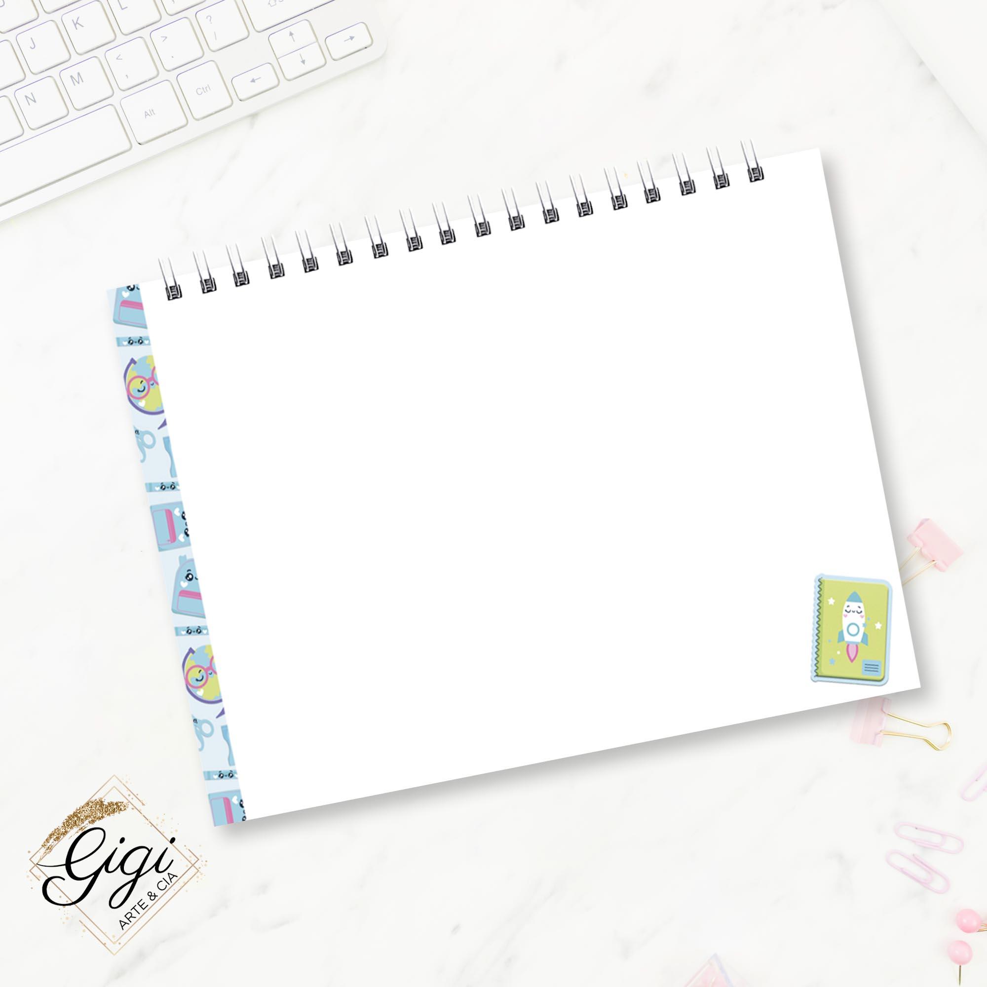 Caderno de Desenhos A4 - Meninos - Volta às Aulas  - Petit Palais de Papier