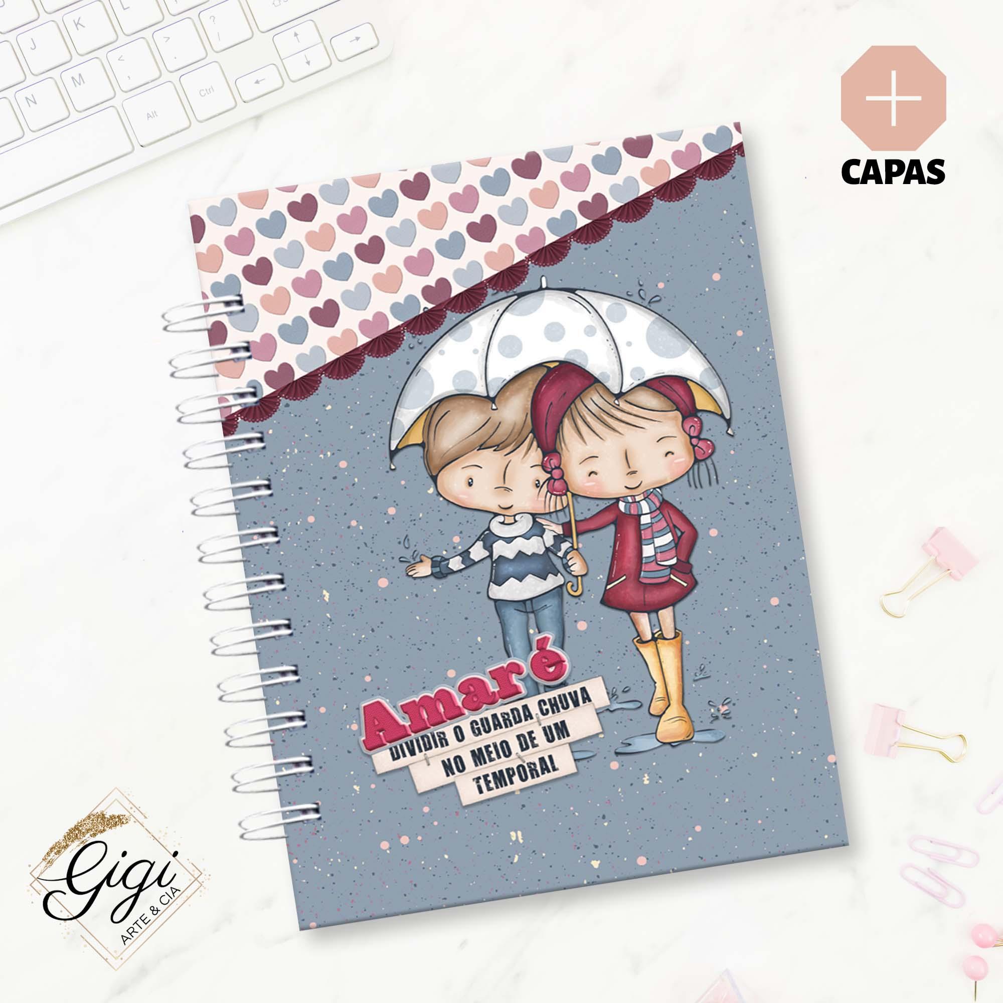 Caderno de Estudos - Amar é...  - Gigi Arte e Cia