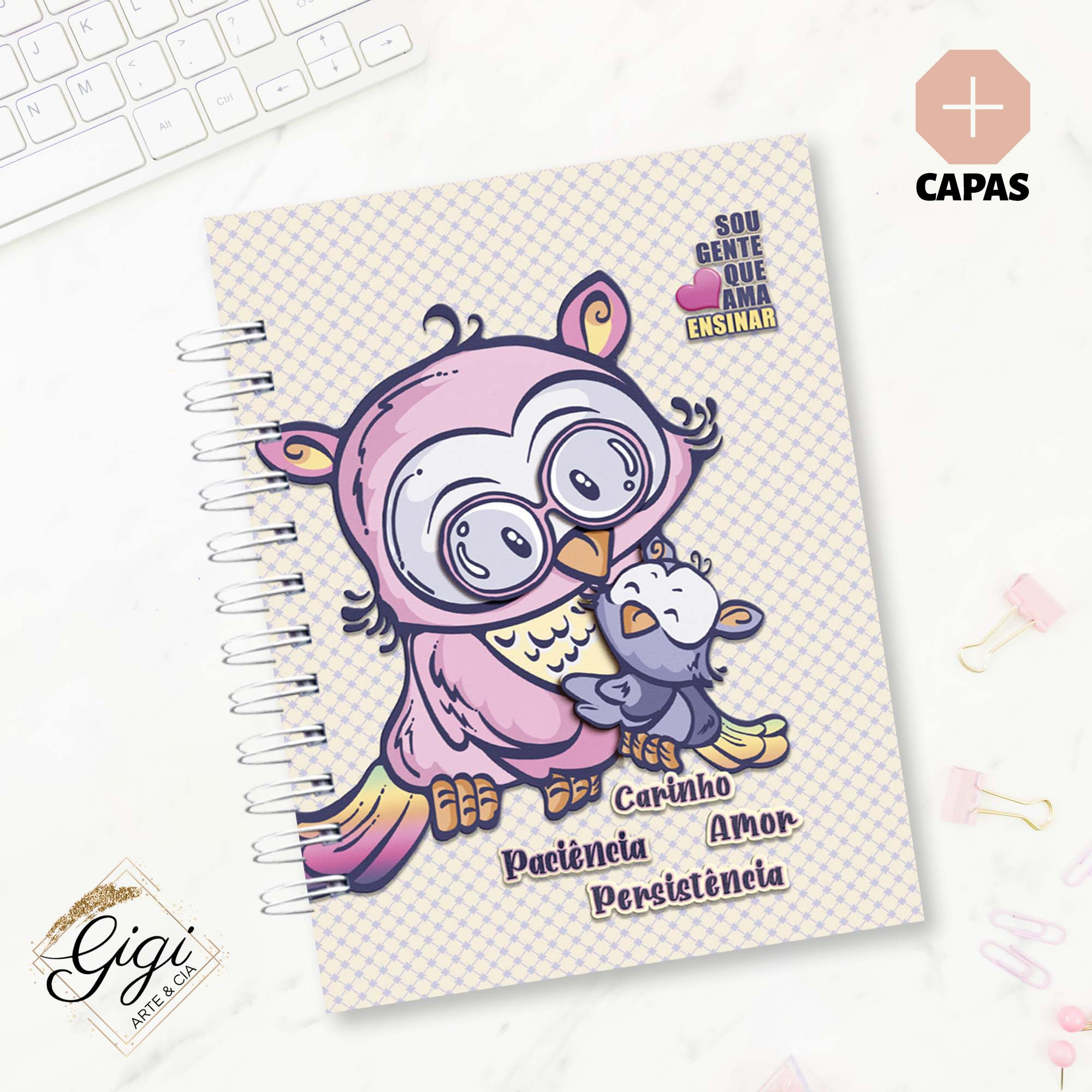 Caderno de Planejamento - Ao Mestre com Carinho  - Gigi Arte e Cia