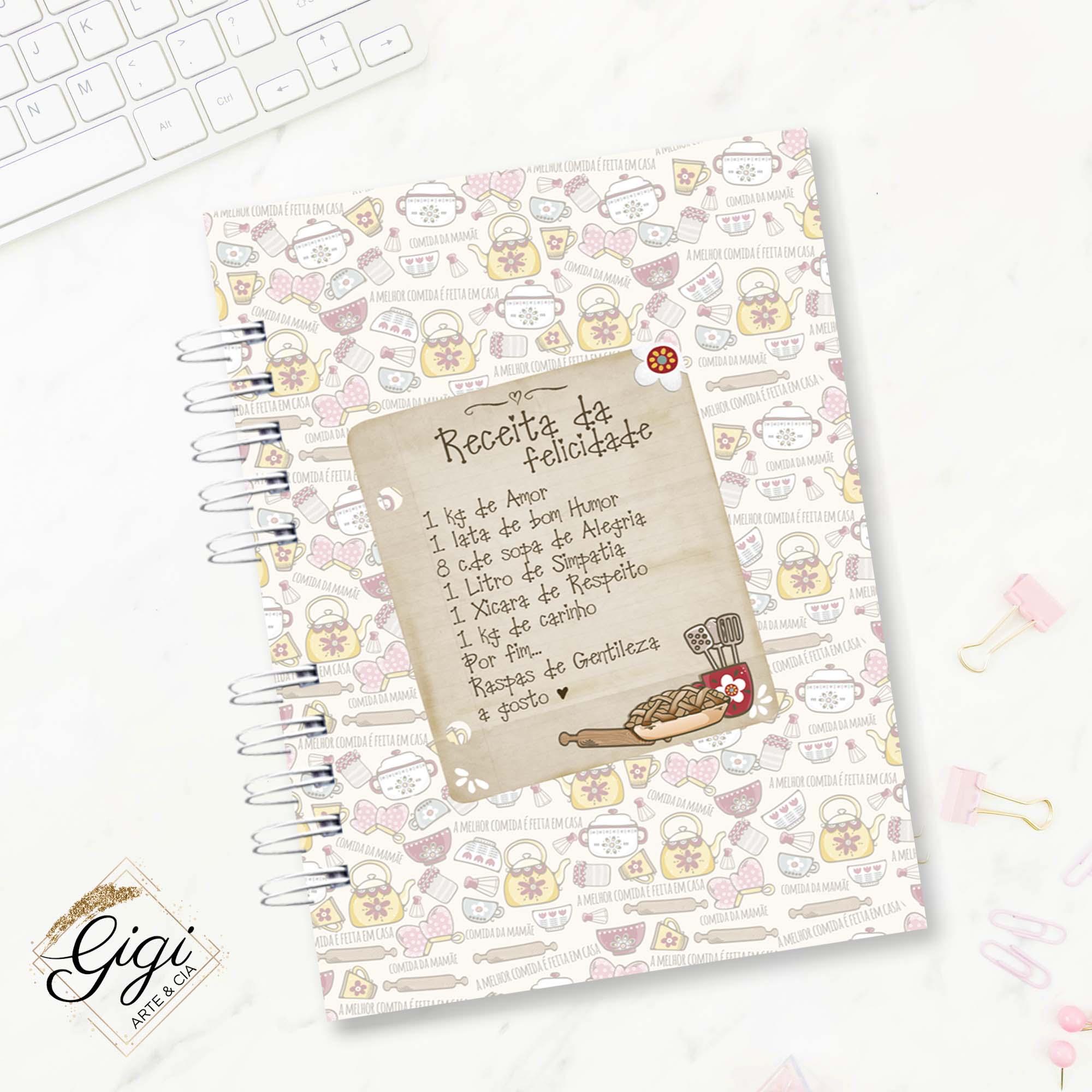Caderno de Receitas  - Gigi Arte e Cia