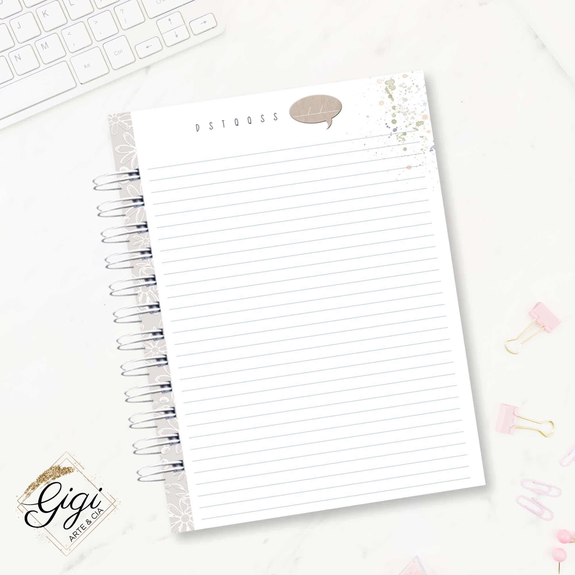 Caderno de Universitário - Ame-se  - Gigi Arte e Cia
