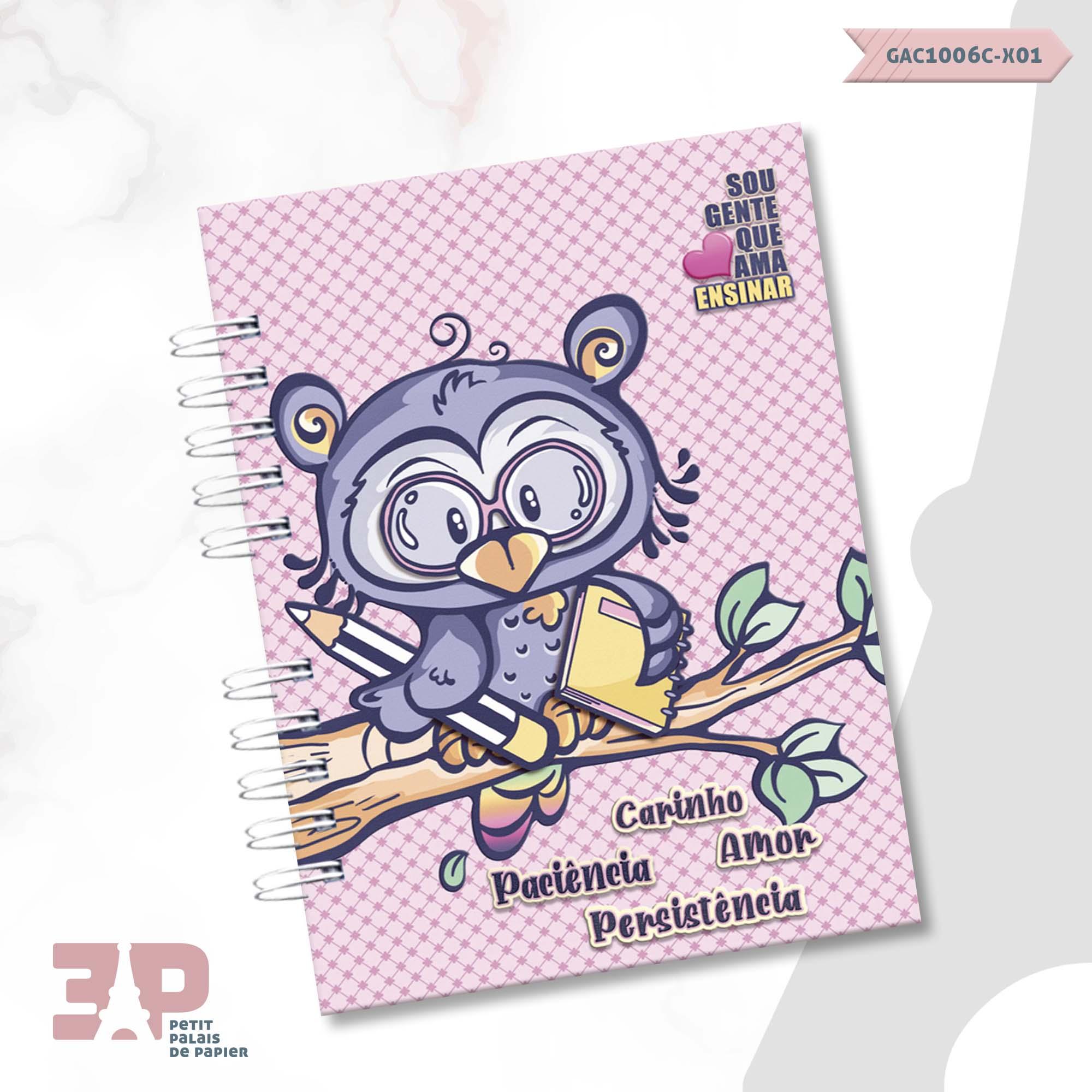Caderno de Universitário - Ao Mestre com Carinho  - Petit Palais de Papier