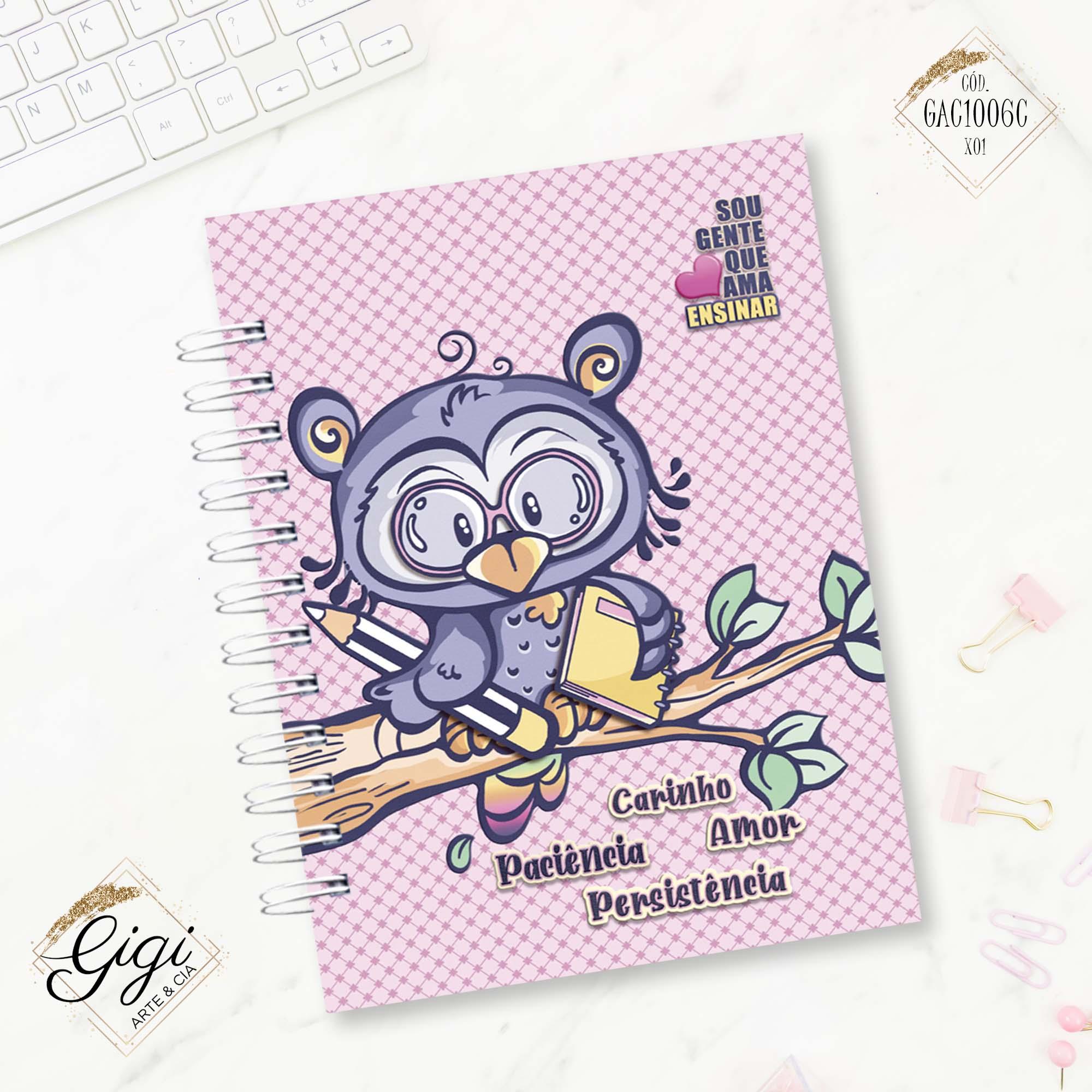Caderno de Universitário - Ao Mestre com Carinho  - Gigi Arte e Cia
