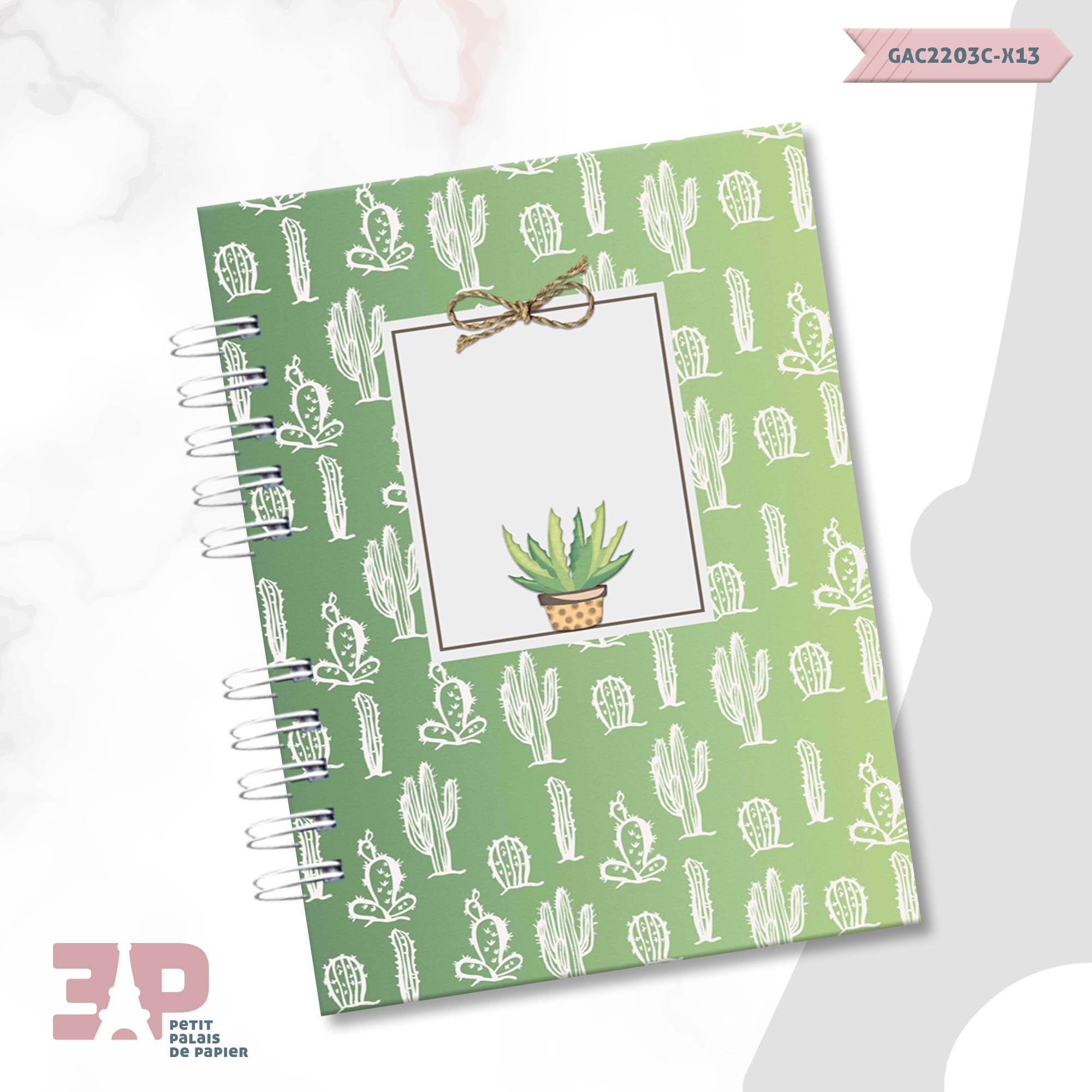 Caderno de Universitário - Cactos  - Petit Palais de Papier