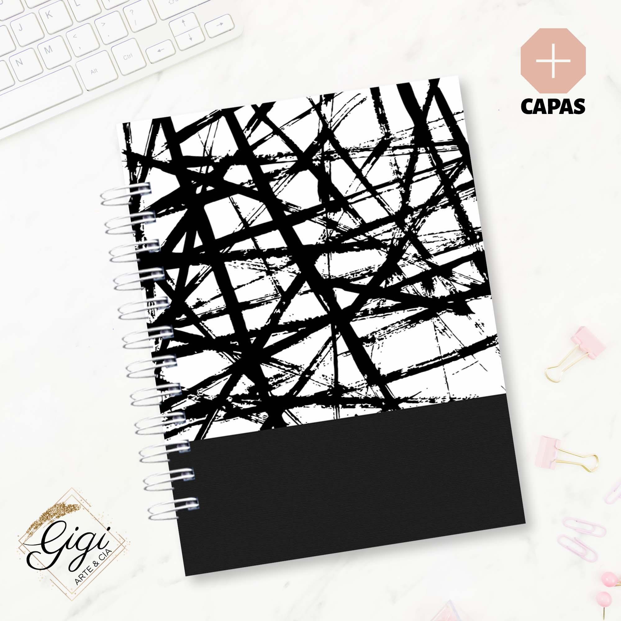 Caderno de Universitário - Preto & Branco  - Petit Palais de Papier