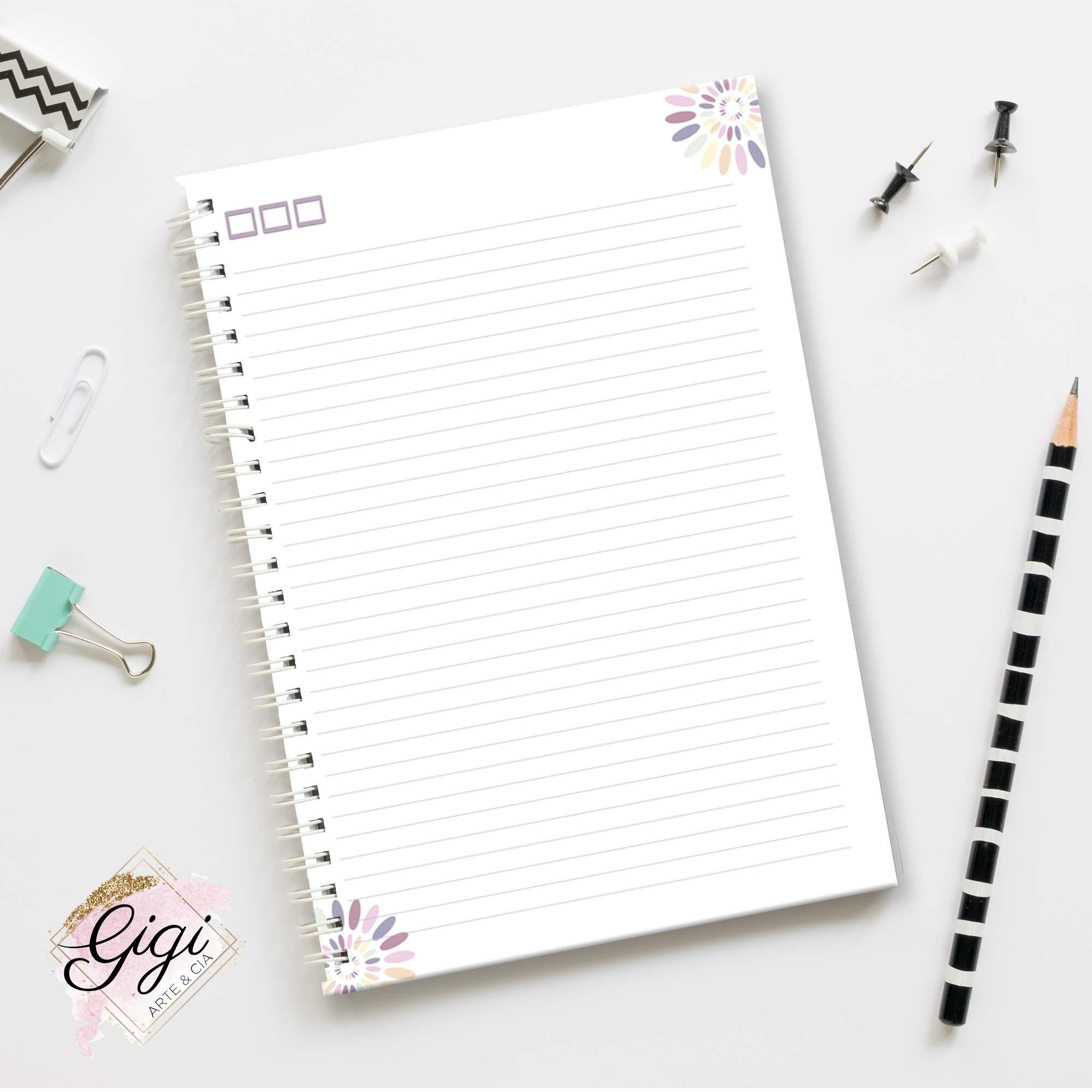 Caderno de Universitário - Professores  - Gigi Arte e Cia