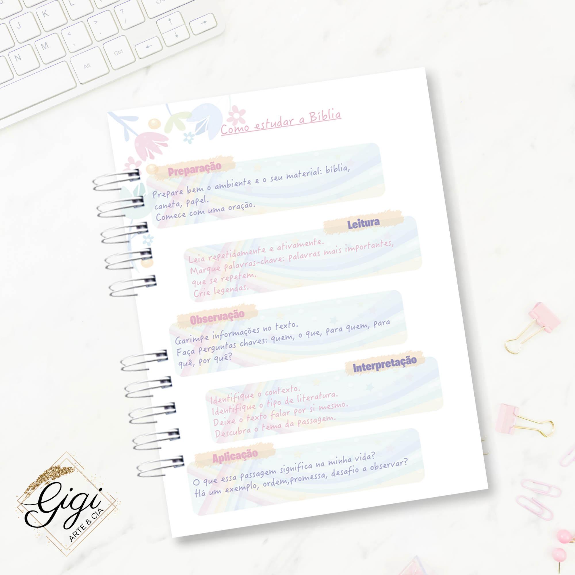 Caderno Devocional - Renascer  - Gigi Arte e Cia