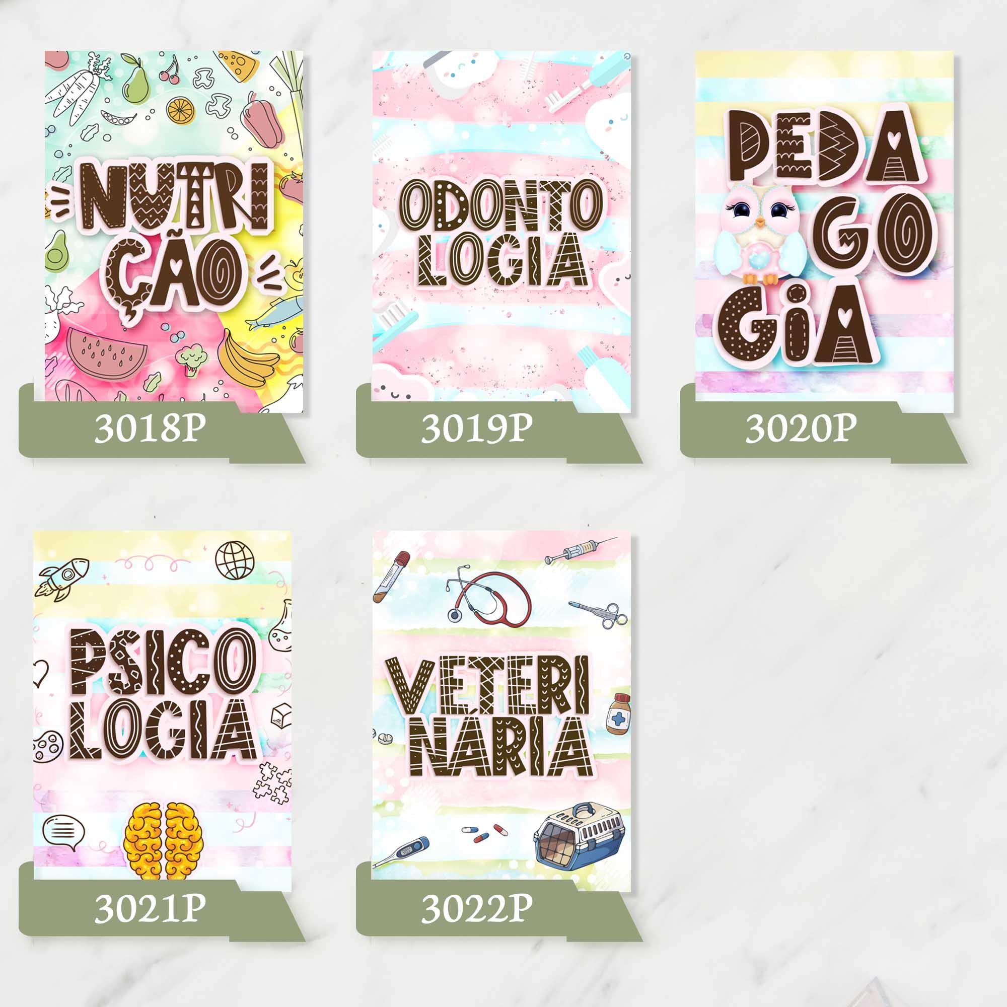 Caderno Universitário Profissões  - Gigi Arte e Cia