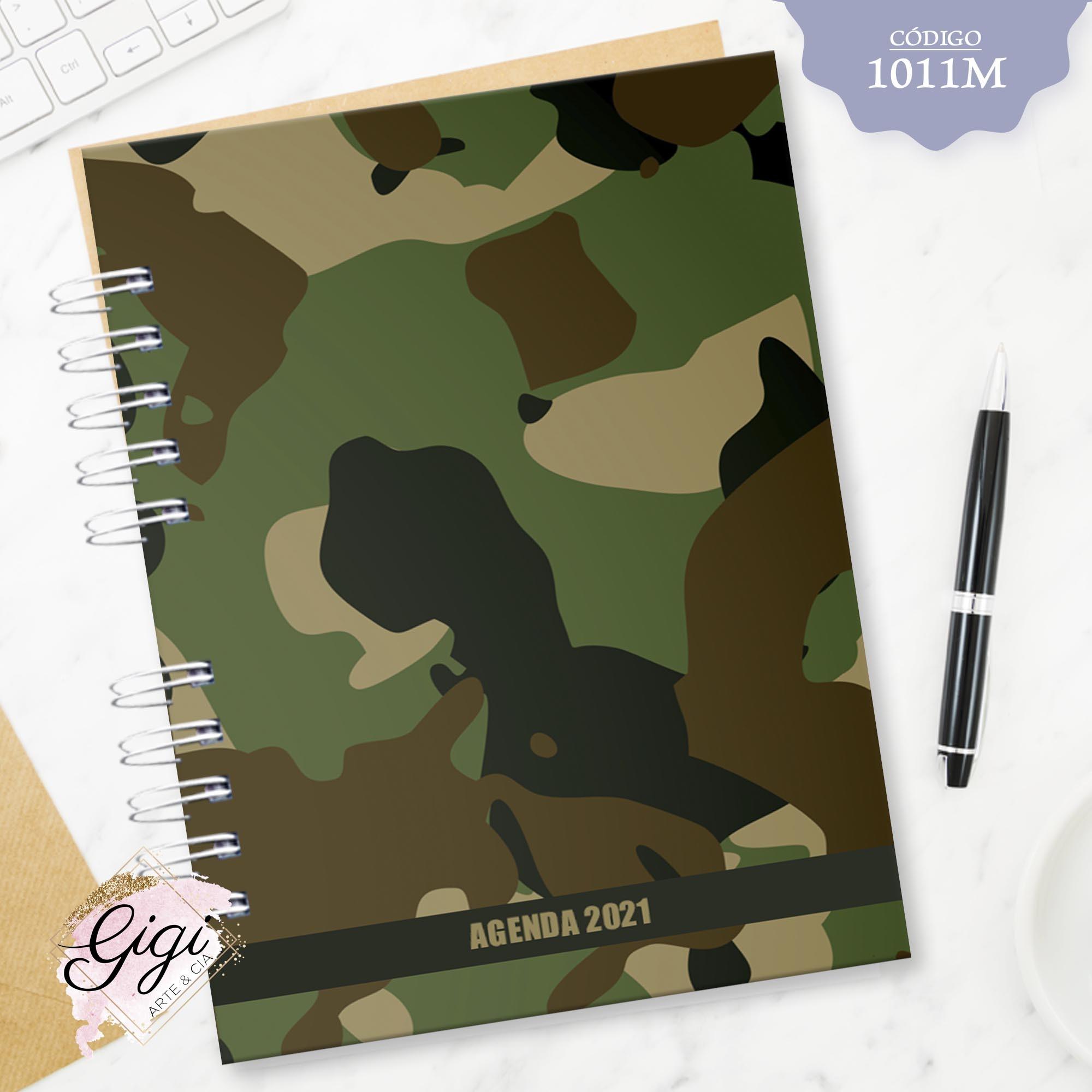 Camuflado 1011M - Agendas | Blocos | Cadernos  - Gigi Arte e Cia
