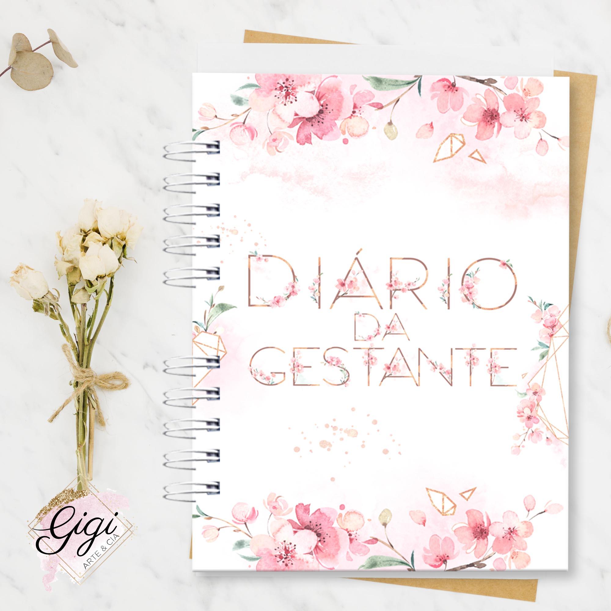 Diário da Gestante  - Gigi Arte e Cia