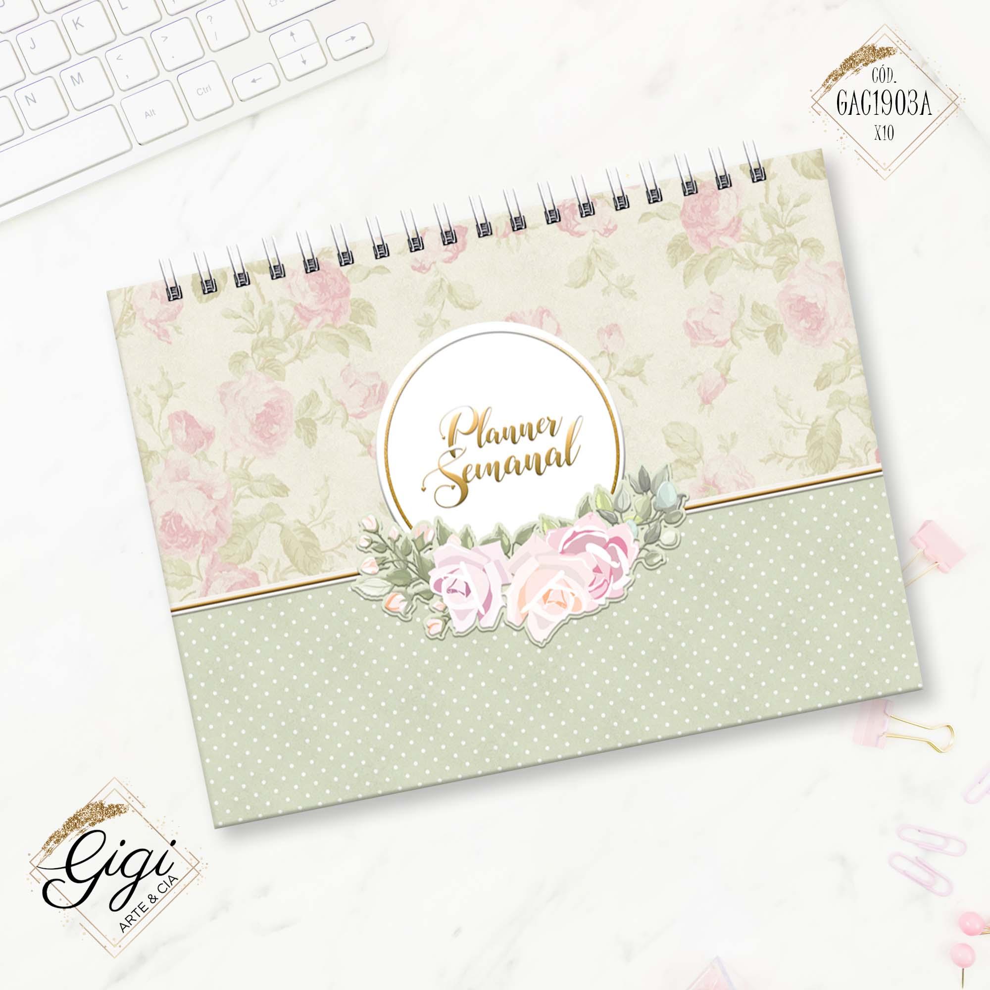 Planejamento Semanal - Romântica  - Gigi Arte e Cia