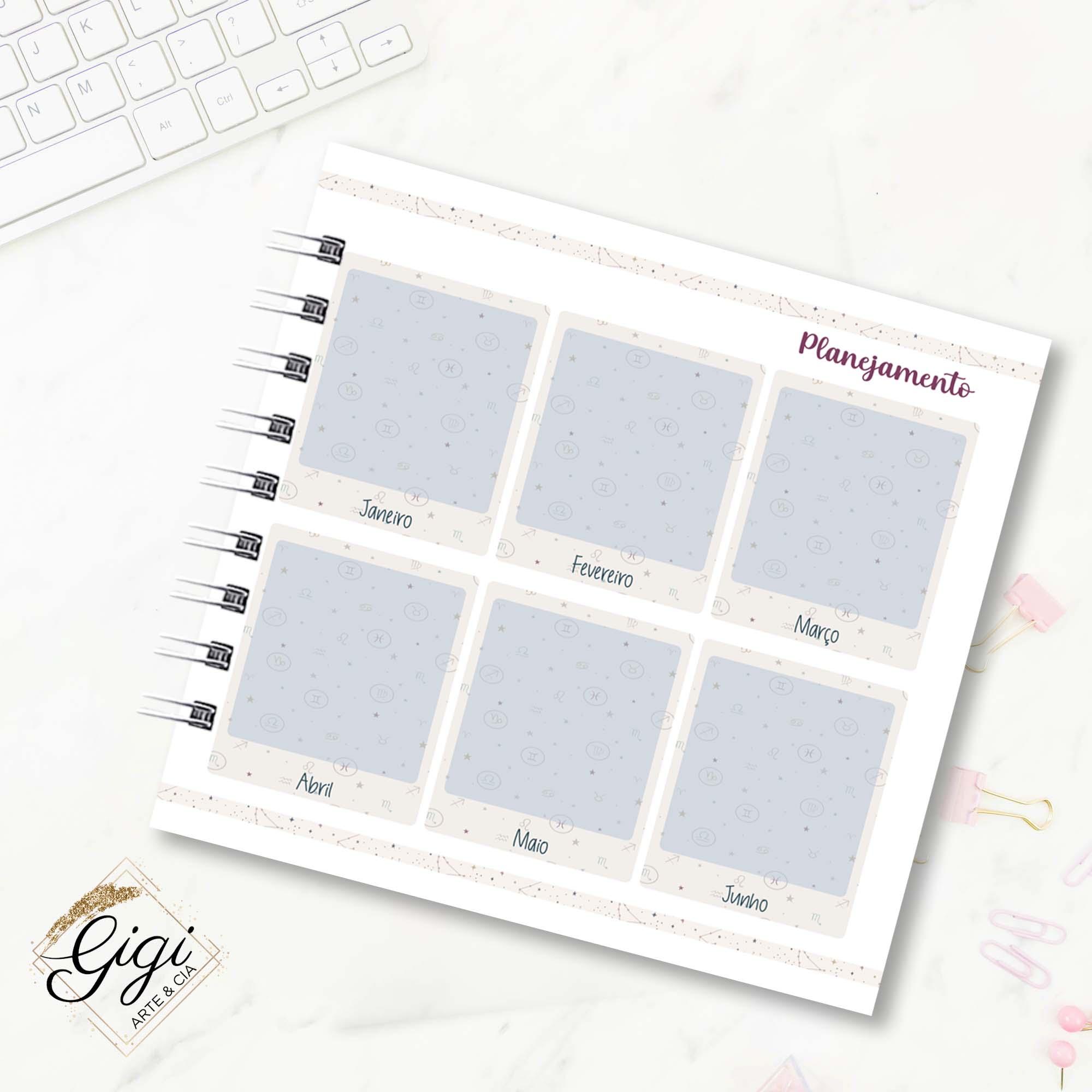Planner 18x18 - Signos I  - Gigi Arte e Cia