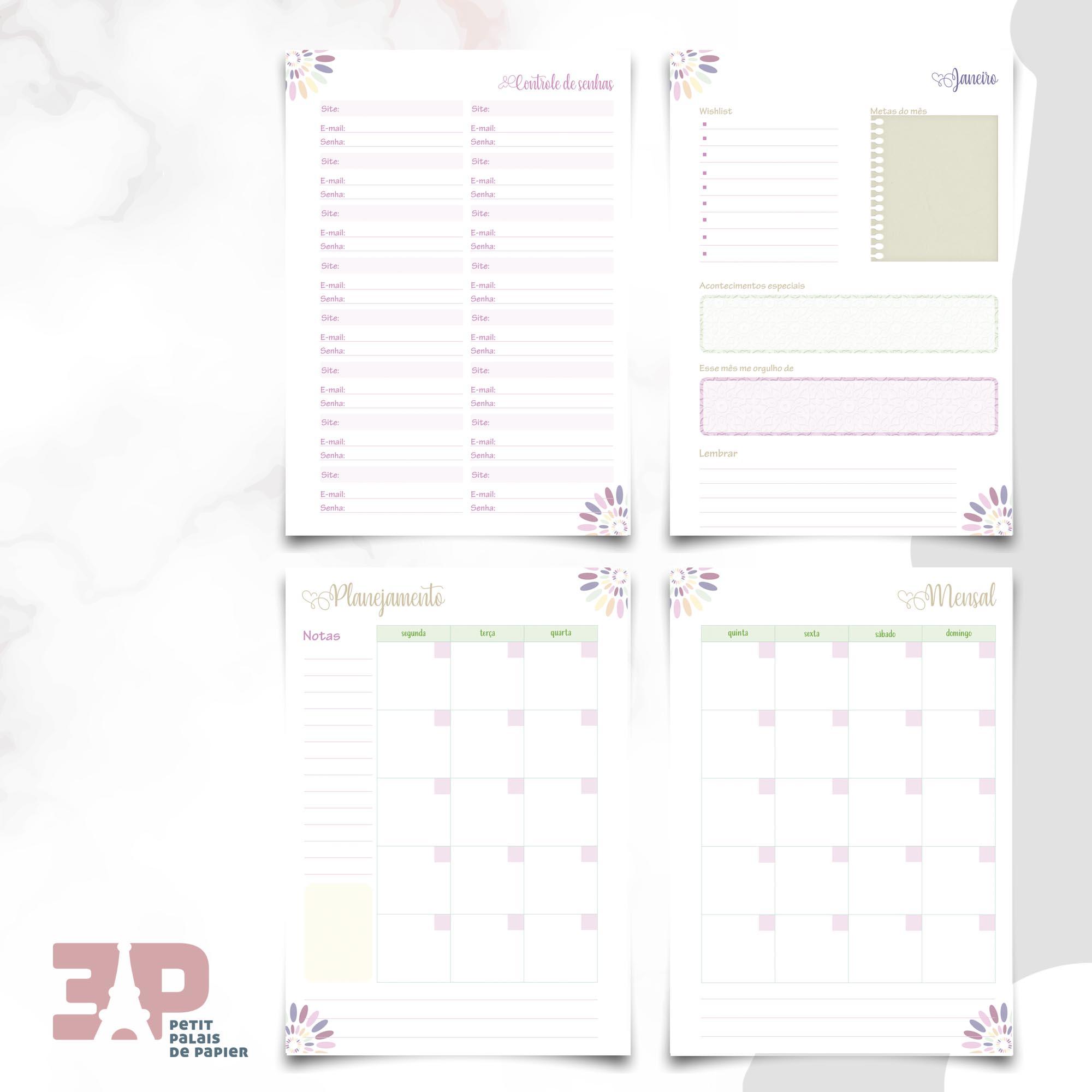 Planner - Ao Mestre com Carinho  - Petit Palais de Papier