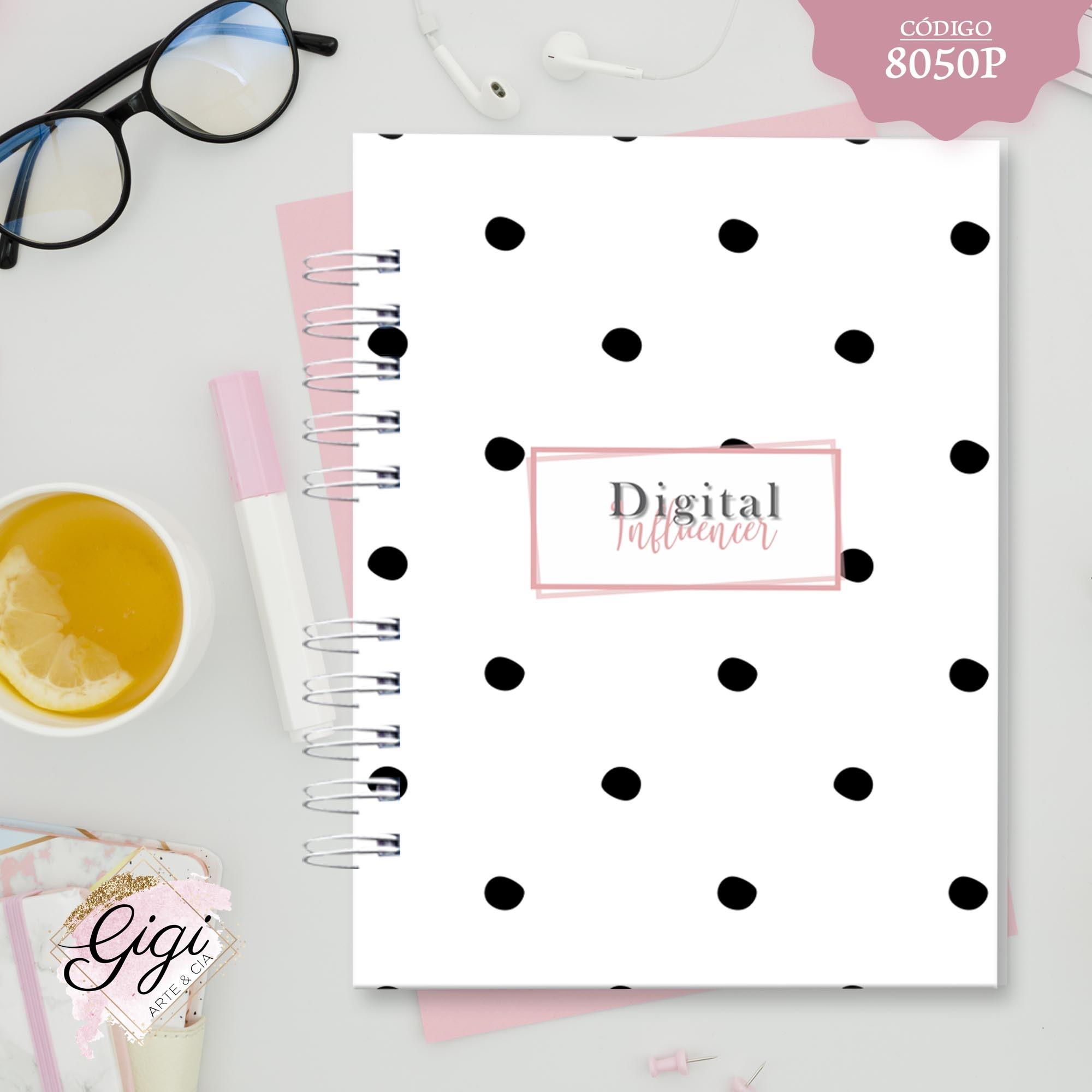 Planner -  Digital Influencer/Redes Sociais  - Gigi Arte e Cia