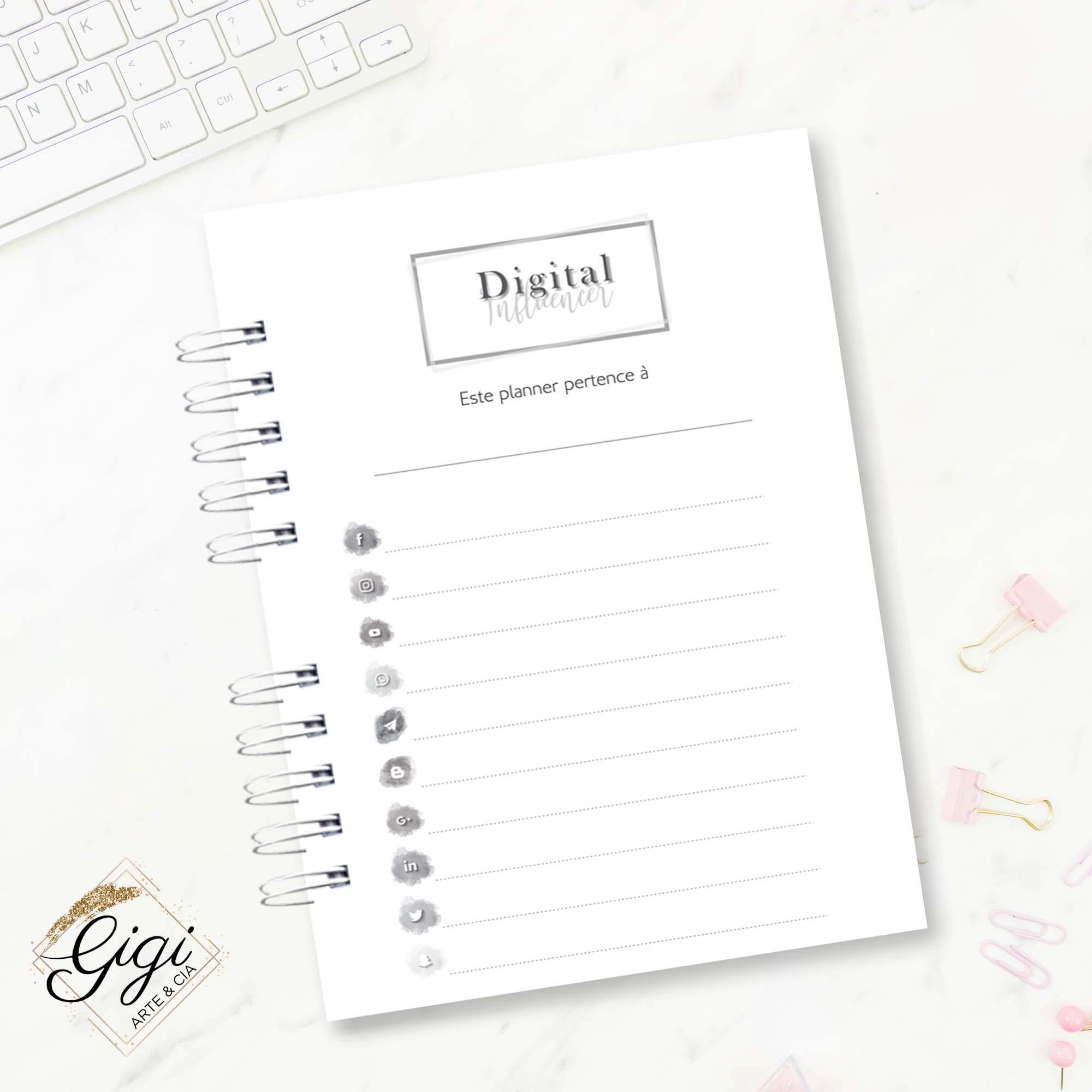 Planner - Digital Influencer/Redes Sociais  - Petit Palais de Papier