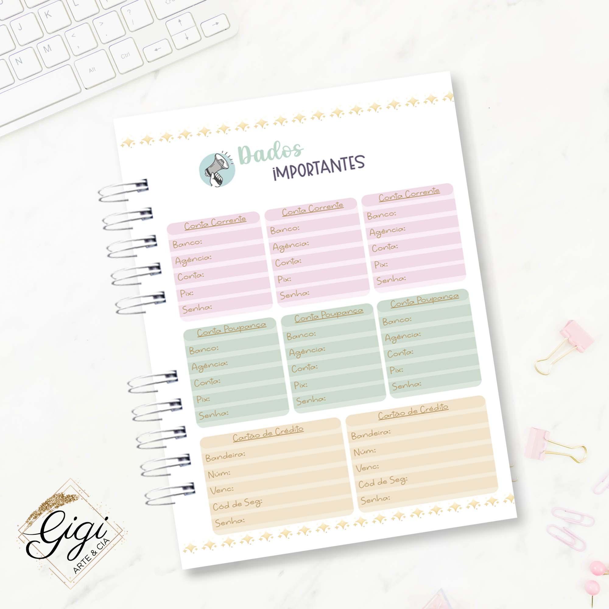 Planner Financeiro - Signos I  - Gigi Arte e Cia