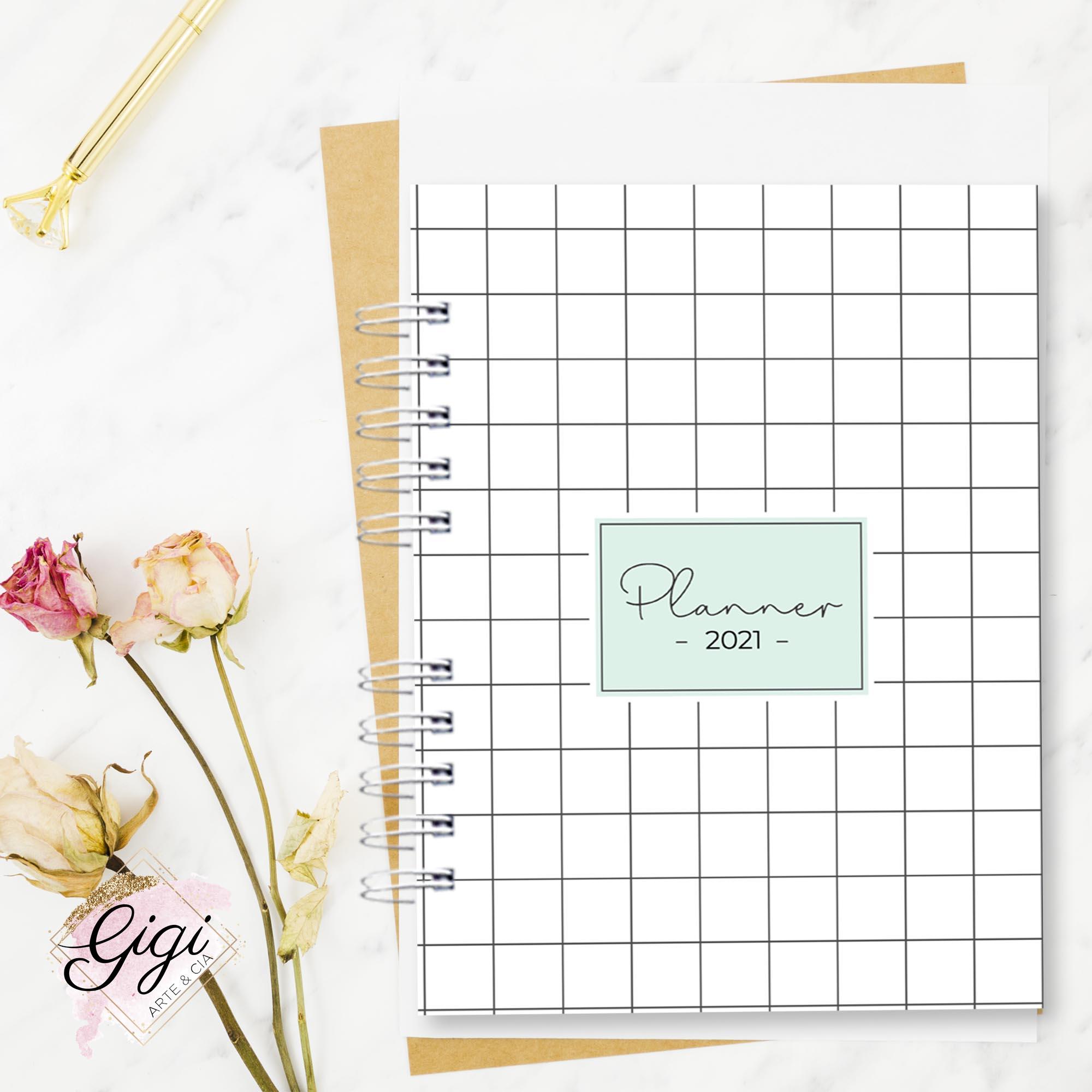 Planner Permanente - Linha Quadriculado  - Gigi Arte e Cia
