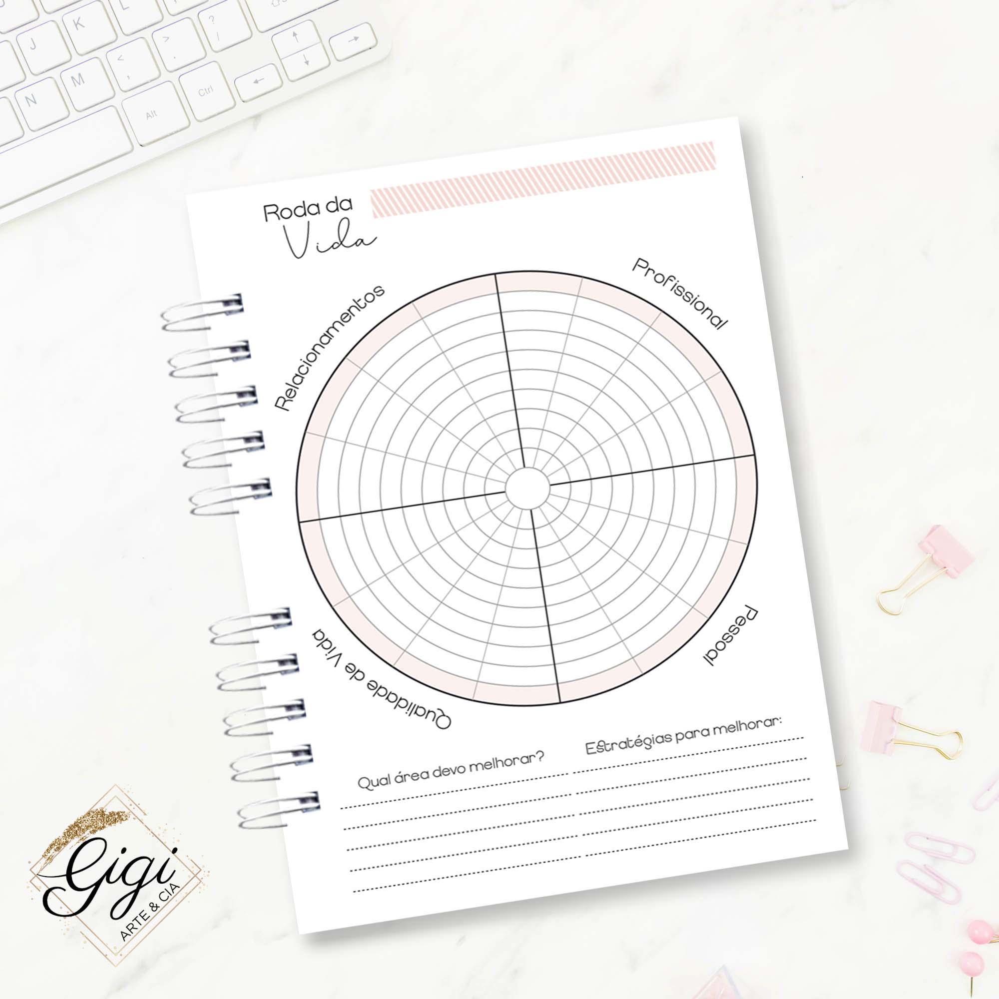 Planner Permanente - Linha Quadriculado  - Petit Palais de Papier