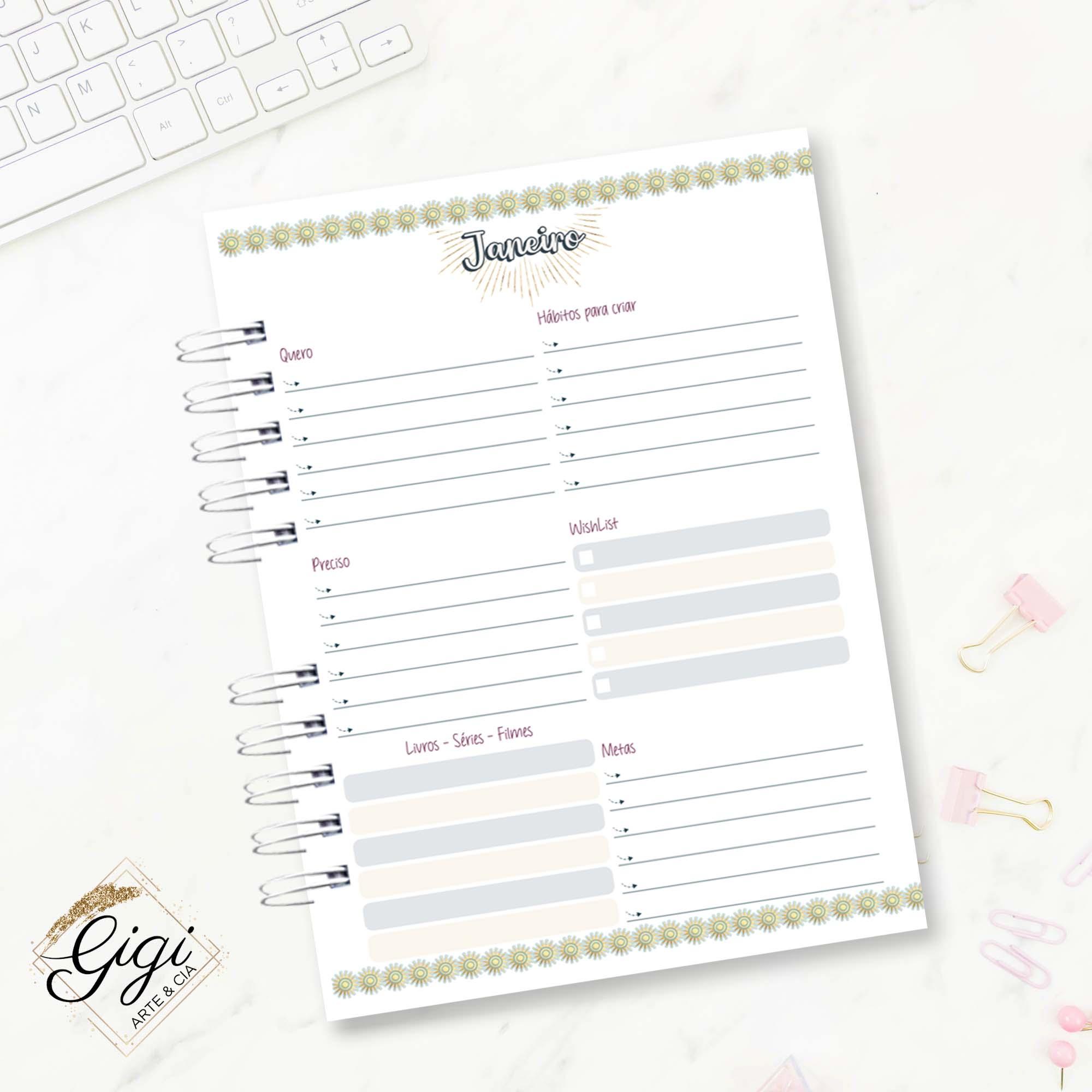 Planner - Signos I  - Gigi Arte e Cia