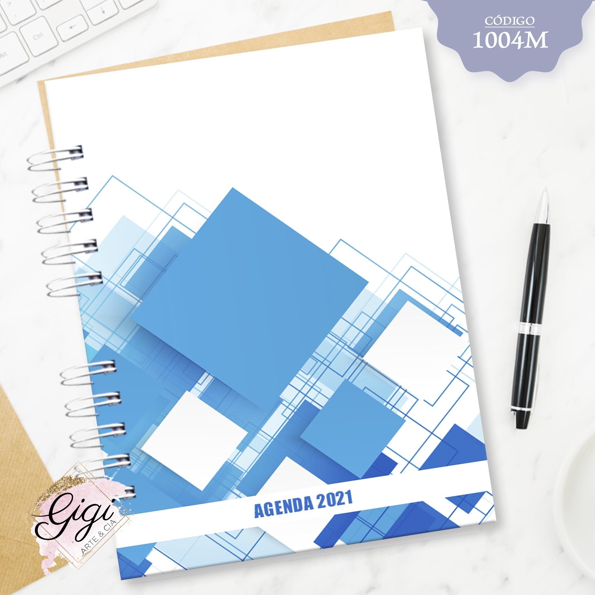 Quadrados Azuis 1004M - Agendas | Blocos | Cadernos  - Gigi Arte e Cia
