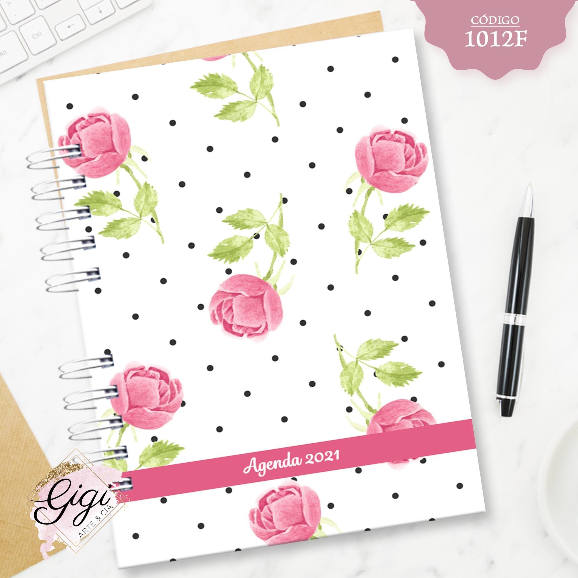 Rosas Inglesas 1012F - Agendas | Blocos | Cadernos  - Gigi Arte e Cia