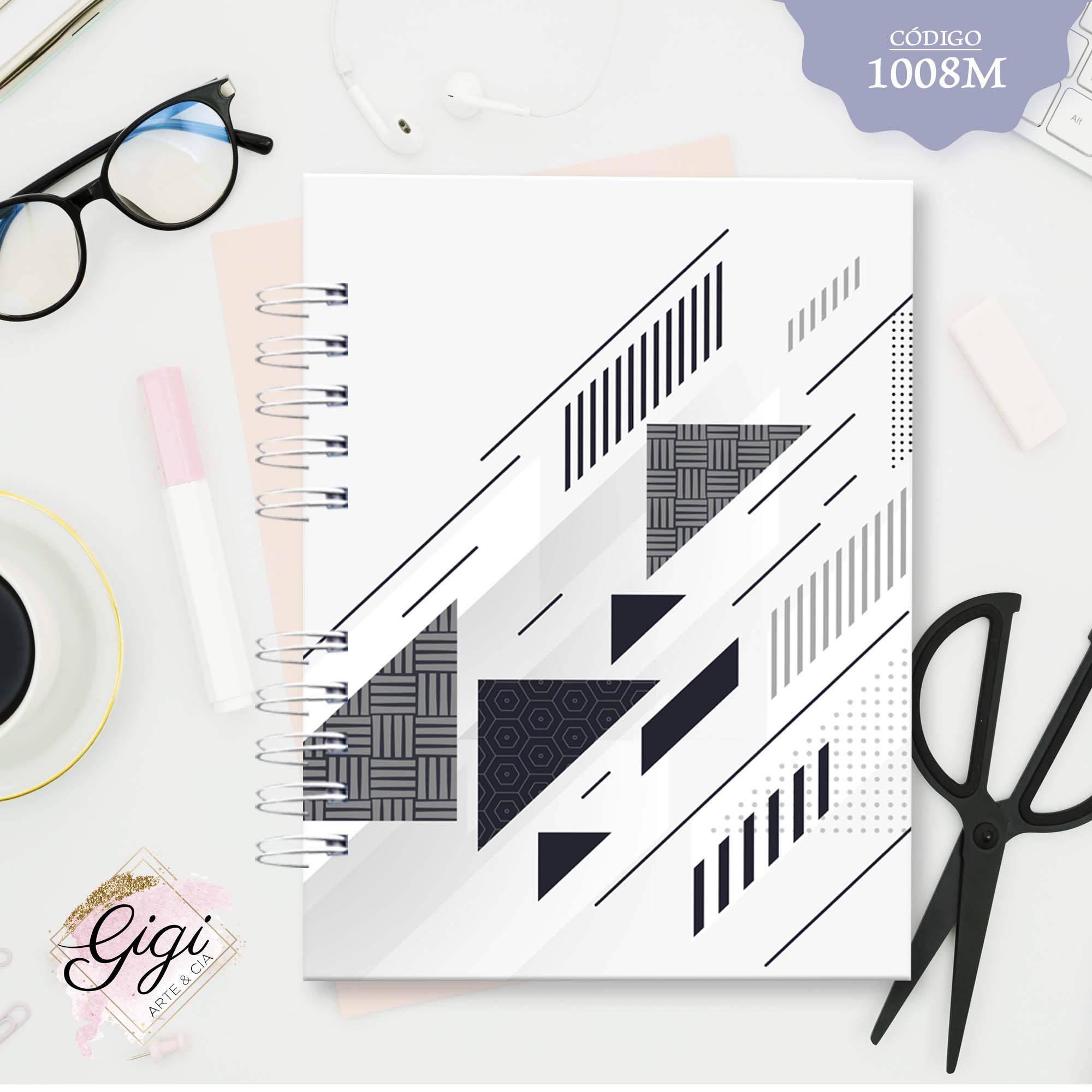 Triângulos 1008M - Agendas | Blocos | Cadernos  - Gigi Arte e Cia