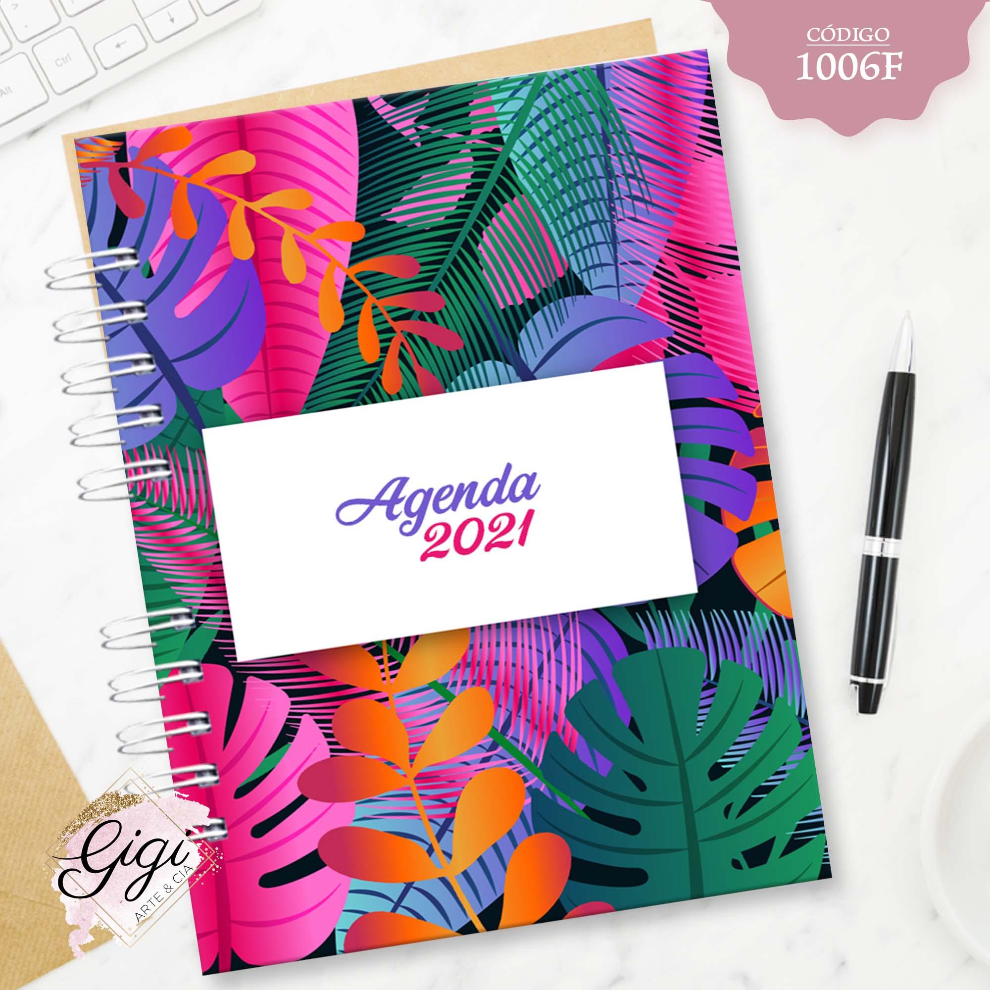 Tropical 1006F - Agendas | Blocos | Cadernos  - Gigi Arte e Cia
